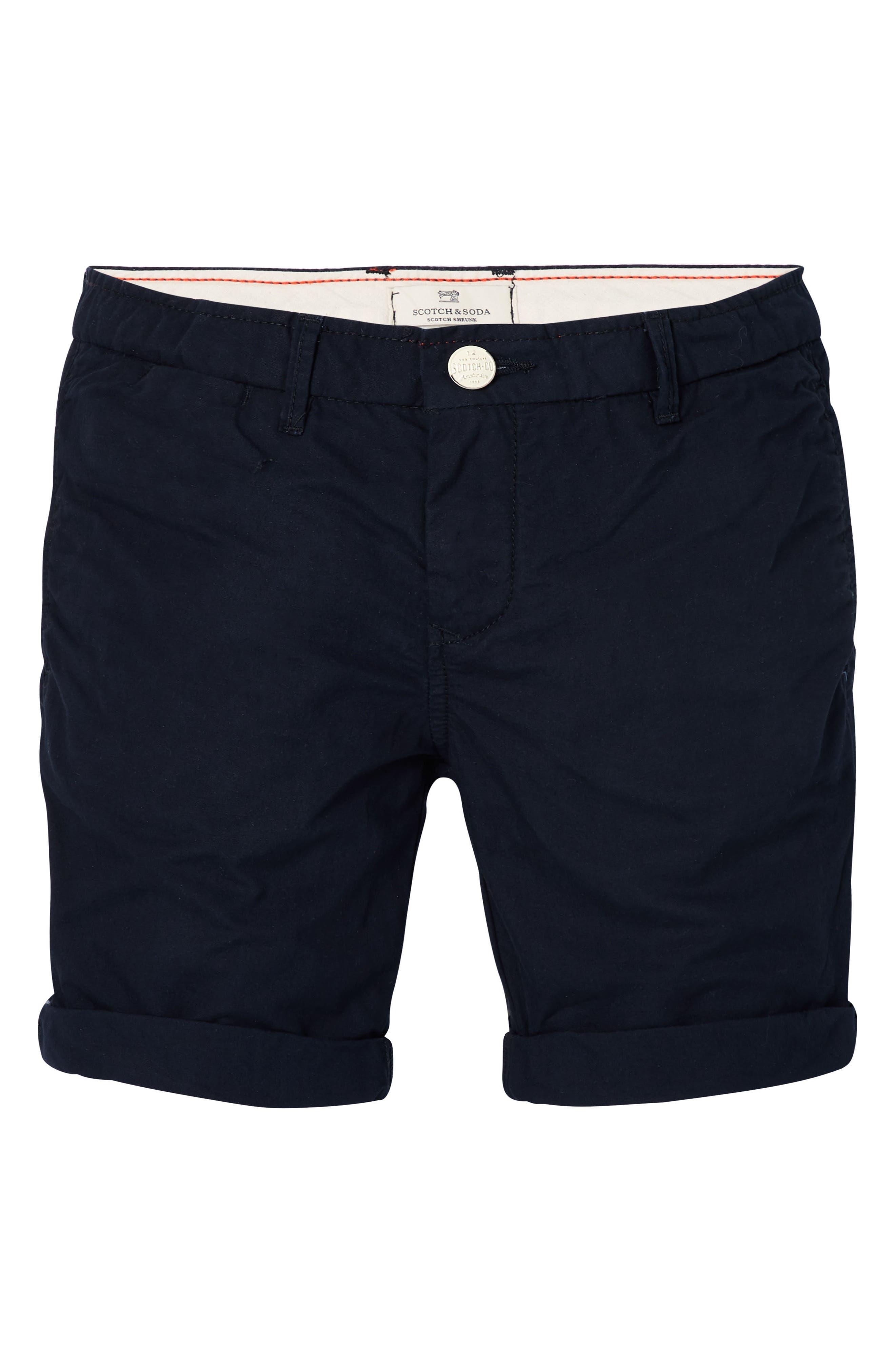 Poplin Shorts,                             Main thumbnail 1, color,                             Night