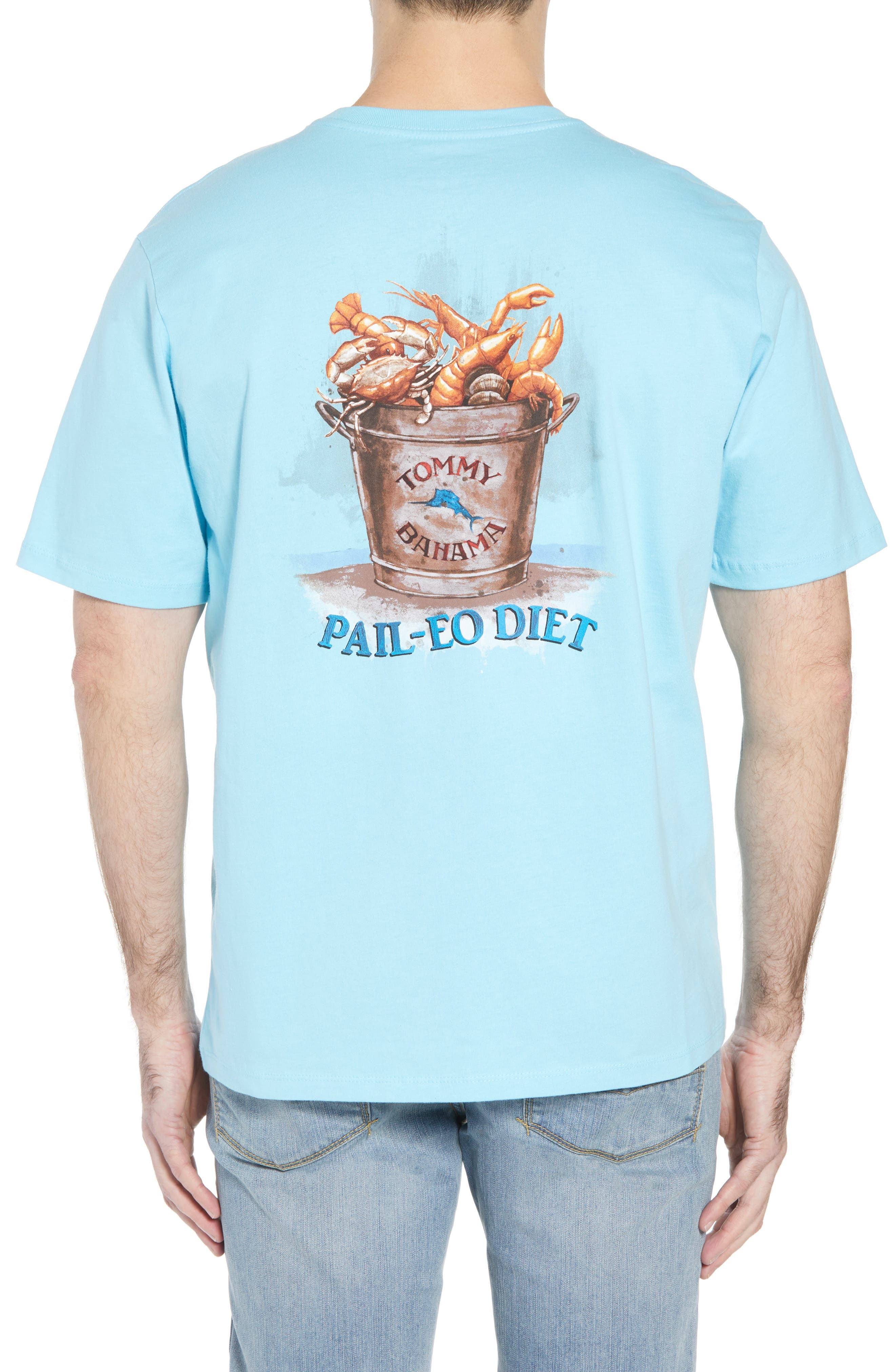 Pail-Eo Diet T-Shirt,                             Alternate thumbnail 2, color,                             Bowtie Blue