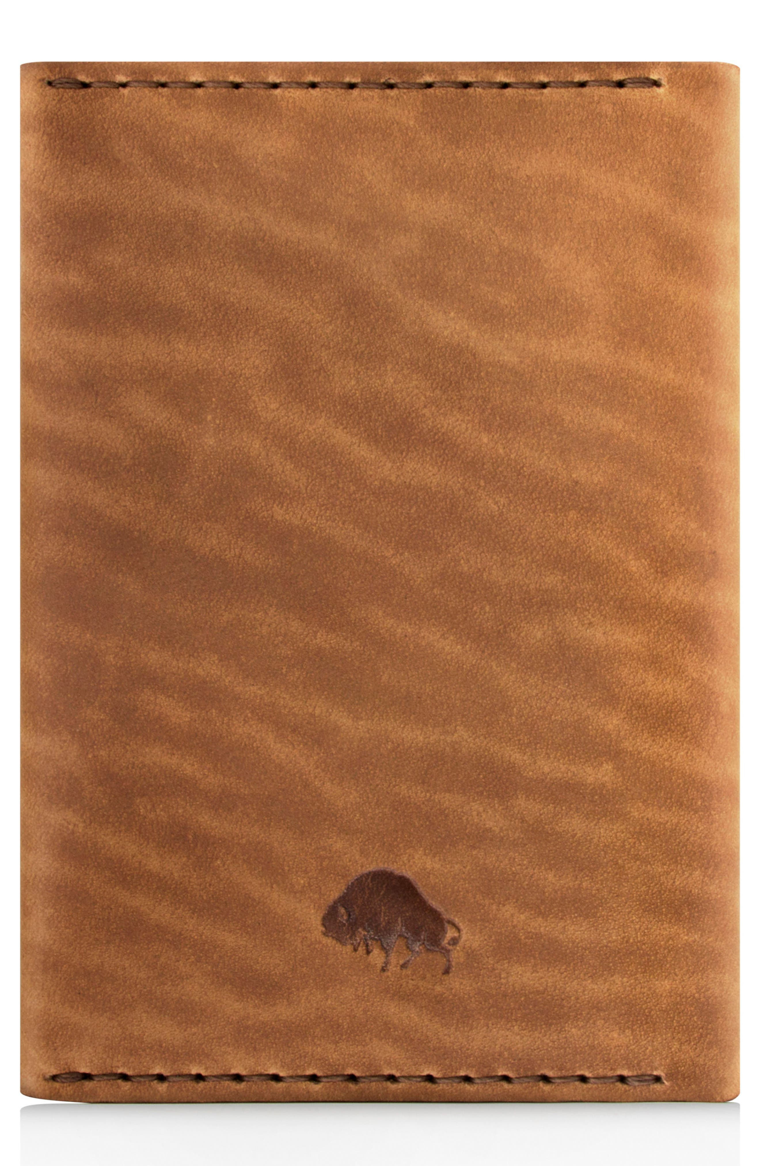Leather Passport Wallet,                             Alternate thumbnail 3, color,                             Whiskey