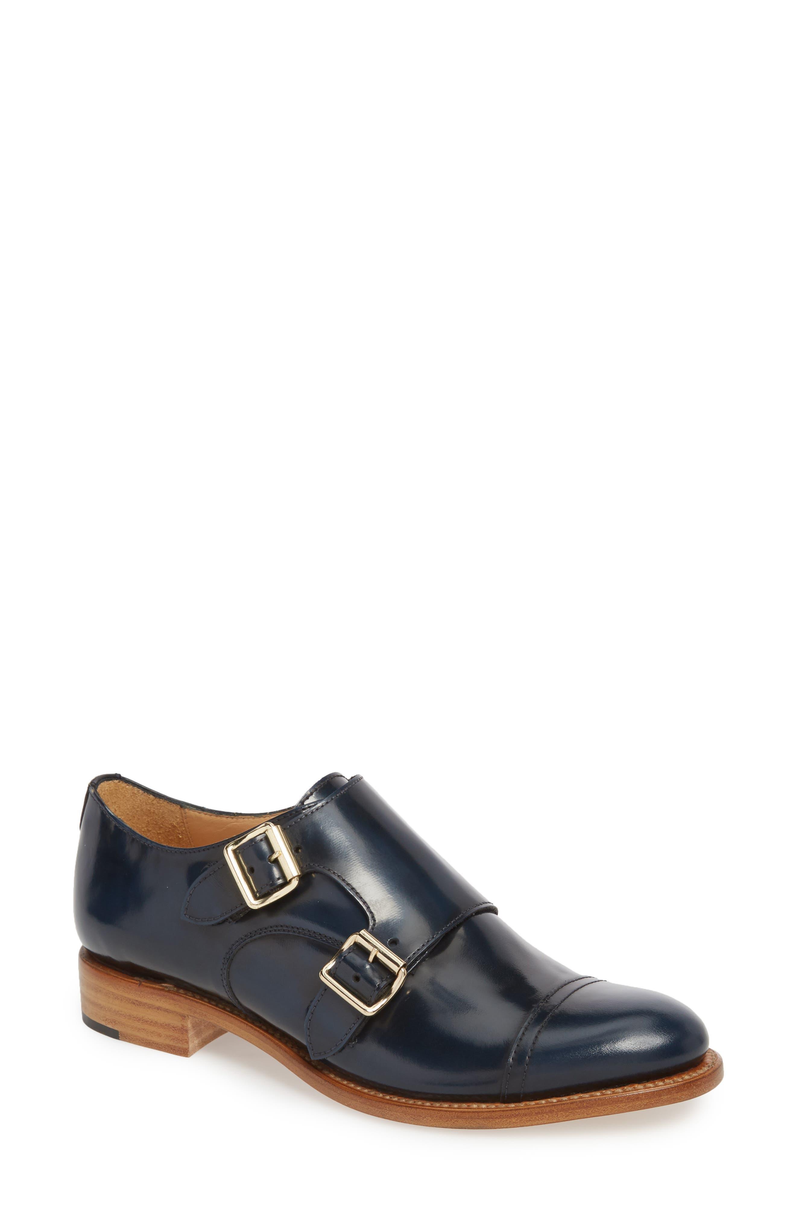Mr. Colin Double Monk Strap Shoe,                             Main thumbnail 1, color,                             Ocean