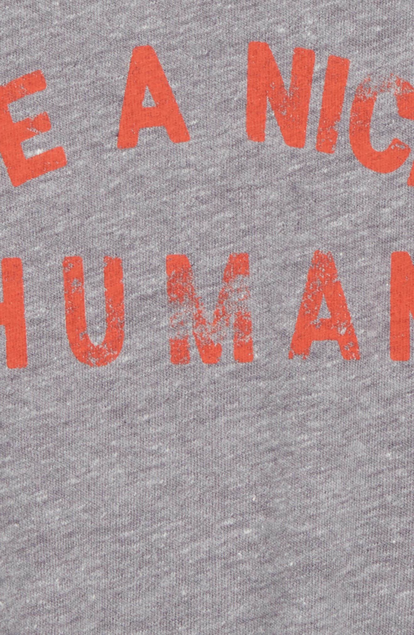 Be A Nice Human Tee,                             Alternate thumbnail 2, color,                             Heather Grey