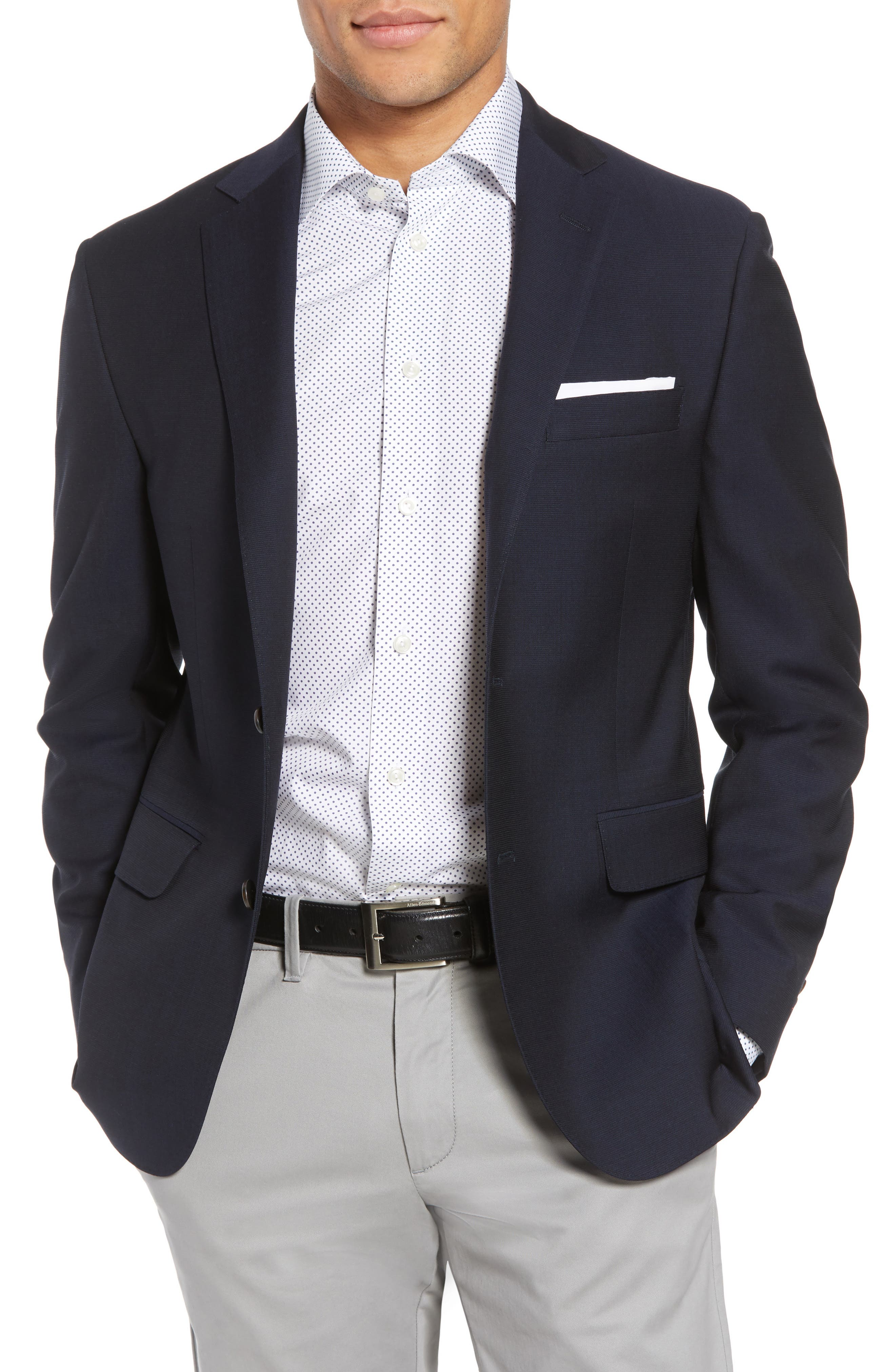 Classic Fit Wool Blazer,                         Main,                         color, Navy