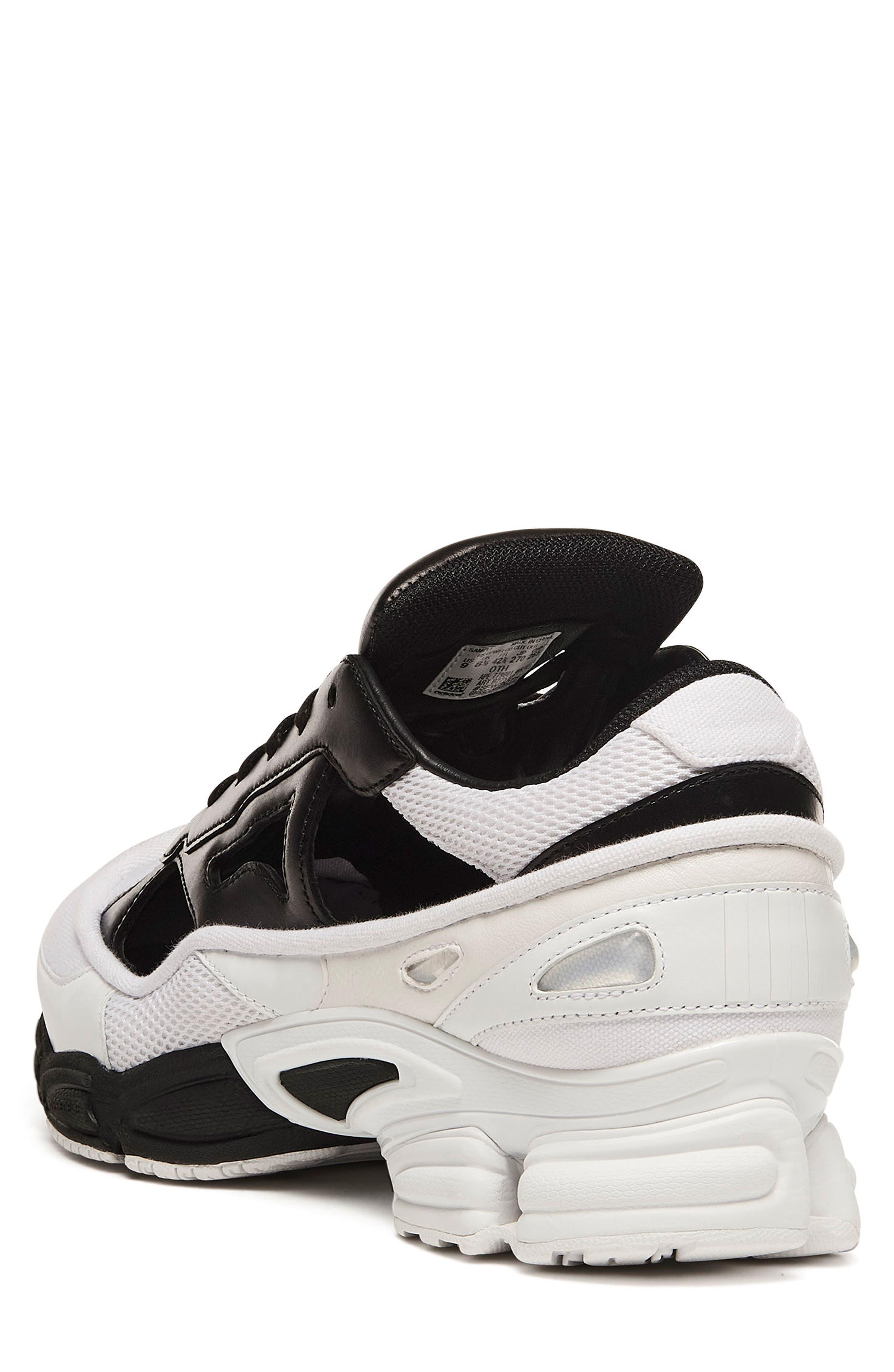 adidas x Raf Simons Replicant Ozweego Sneaker,                             Alternate thumbnail 2, color,                             Core Black/ Cream White/ White