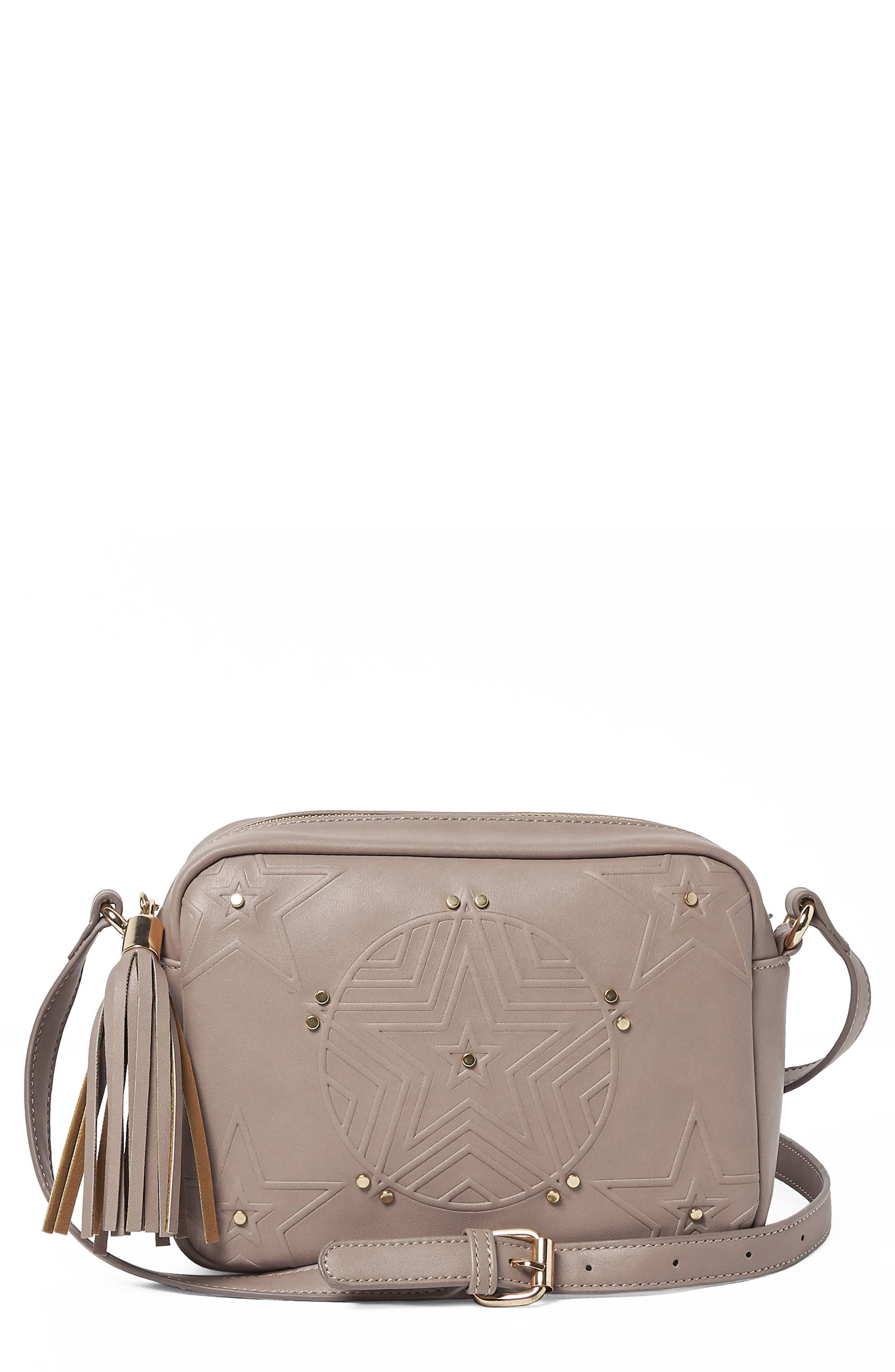 Urban Originals STARGAZER VEGAN LEATHER CROSSBODY BAG - GREY