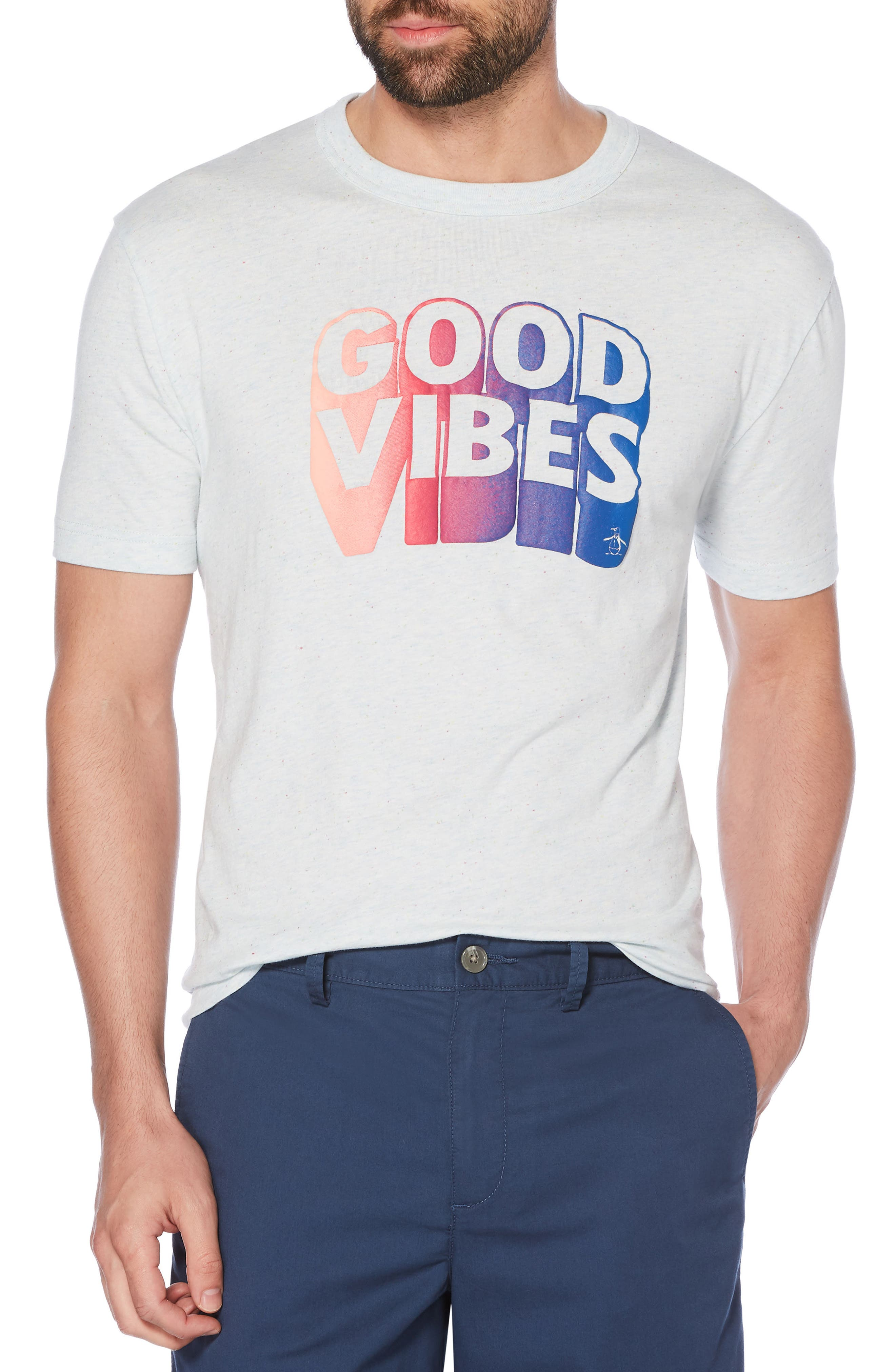 Good Vibes T-Shirt,                         Main,                         color, Omphalodes