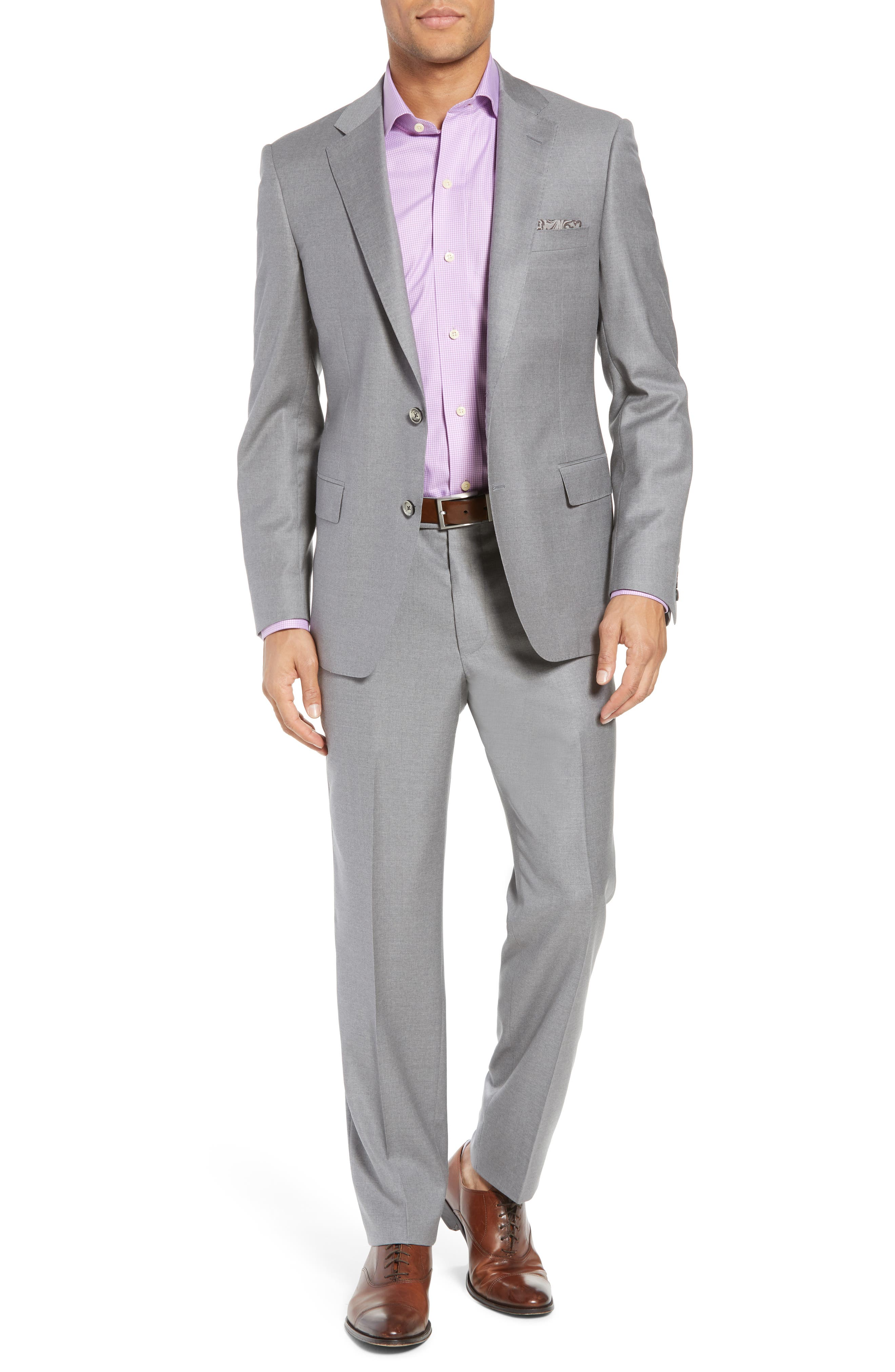 Bennet Classic Fit Solid Wool Suit,                             Main thumbnail 1, color,                             Light Grey