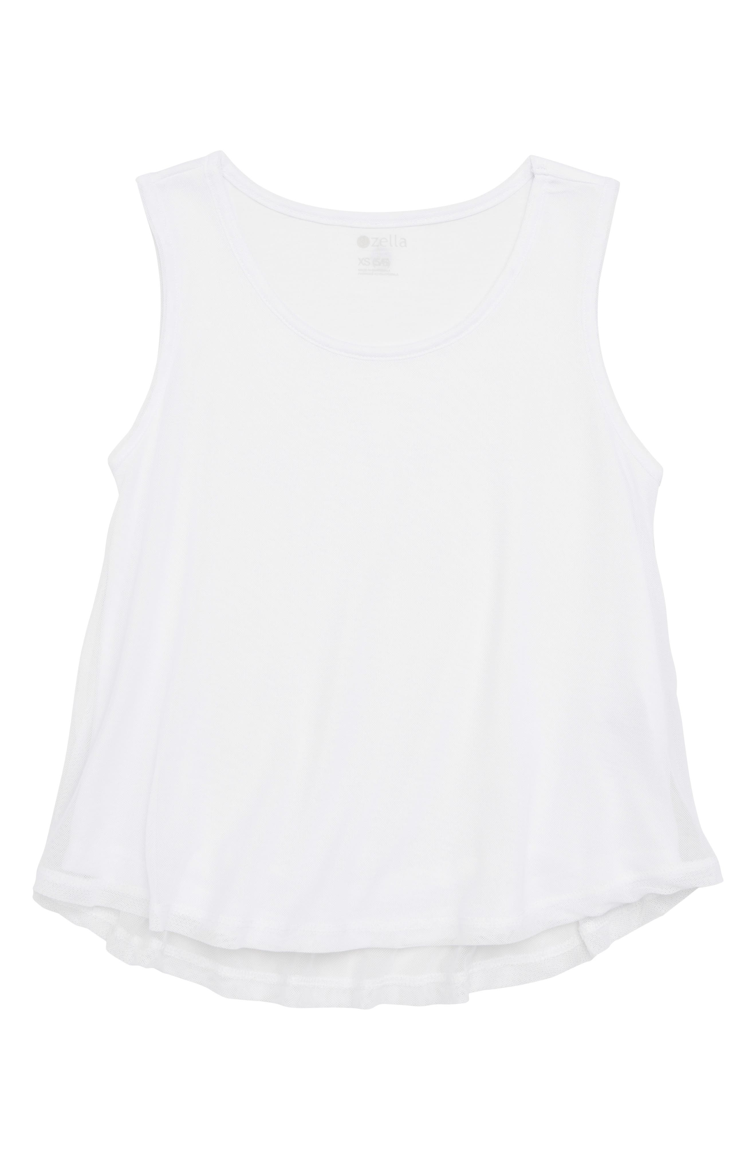 Sheer Form Tank,                         Main,                         color, White