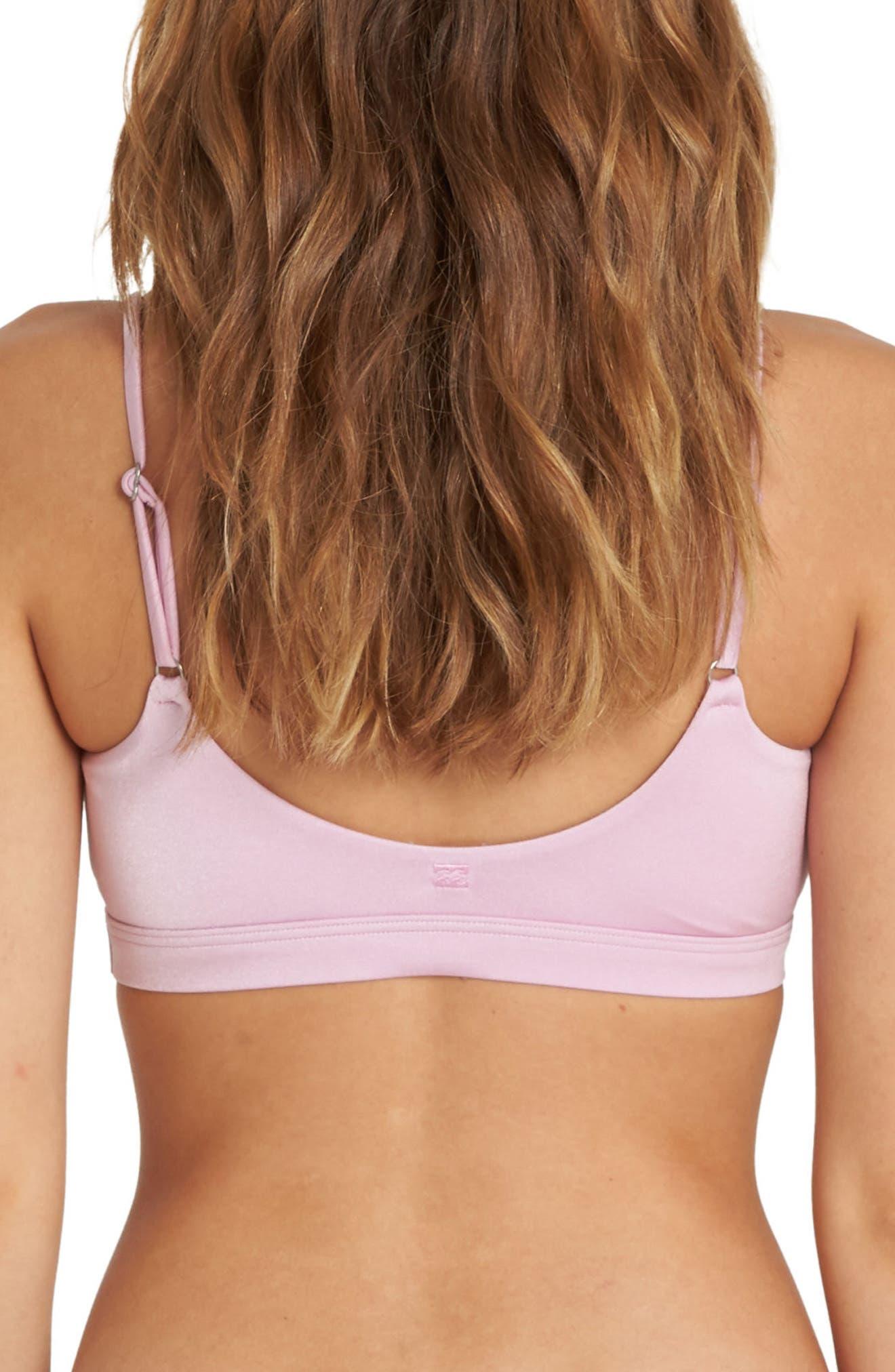 Sol Searcher Tie Bikini Top,                             Alternate thumbnail 2, color,                             Wild Lavender