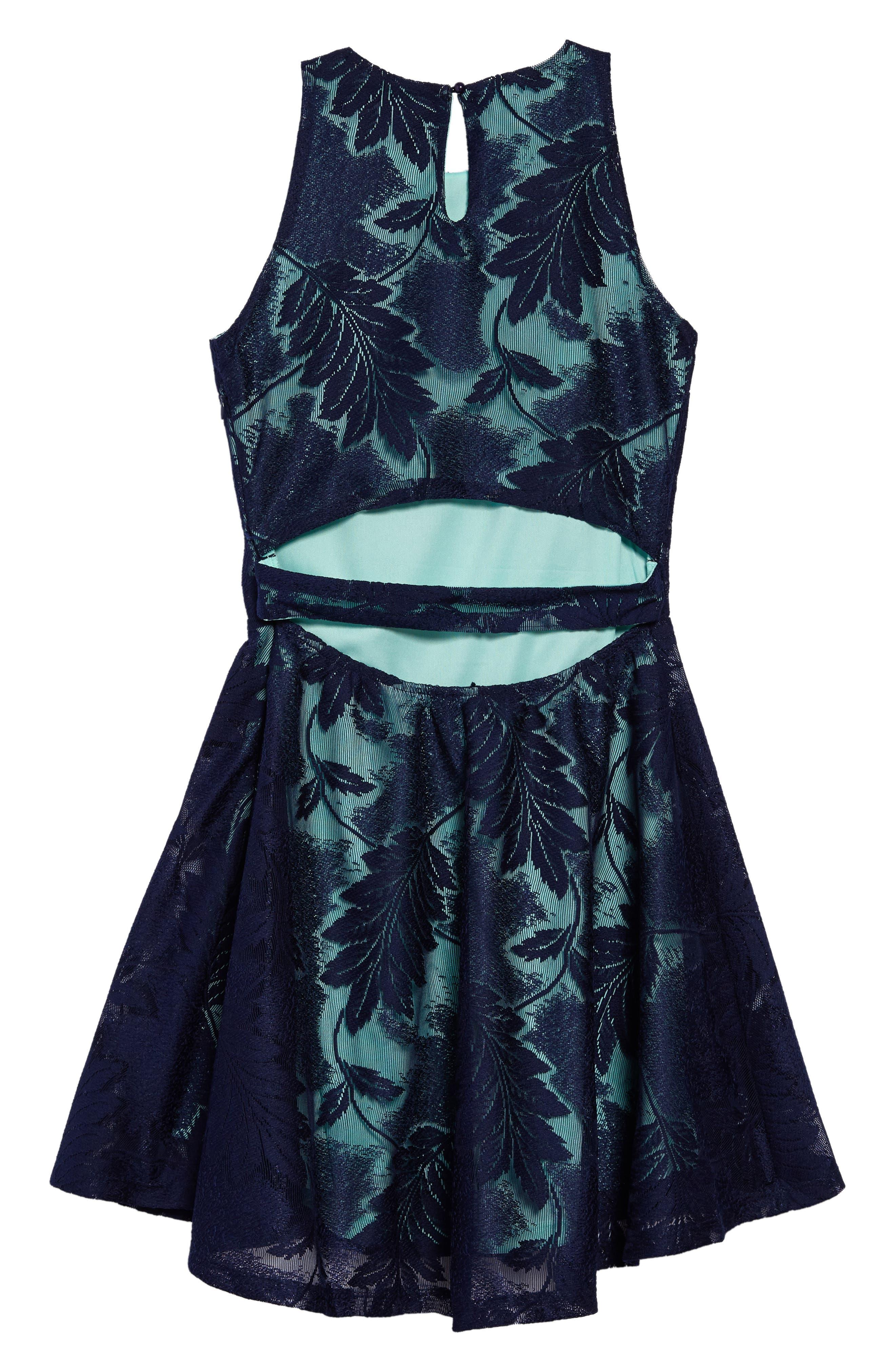 Jessica Dress,                             Alternate thumbnail 2, color,                             Navy