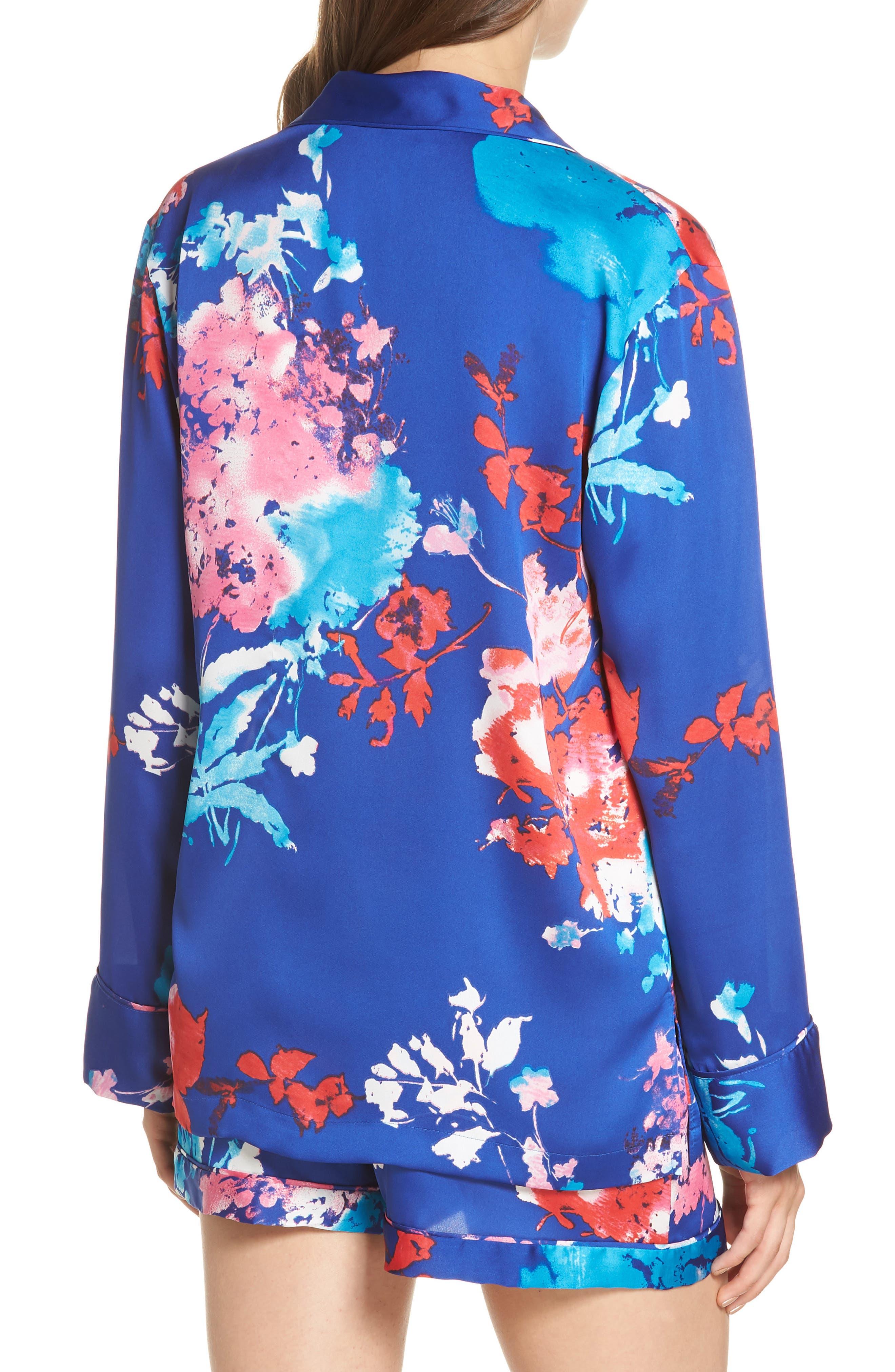 Fiji Short Pajamas,                             Alternate thumbnail 2, color,                             Cobalt