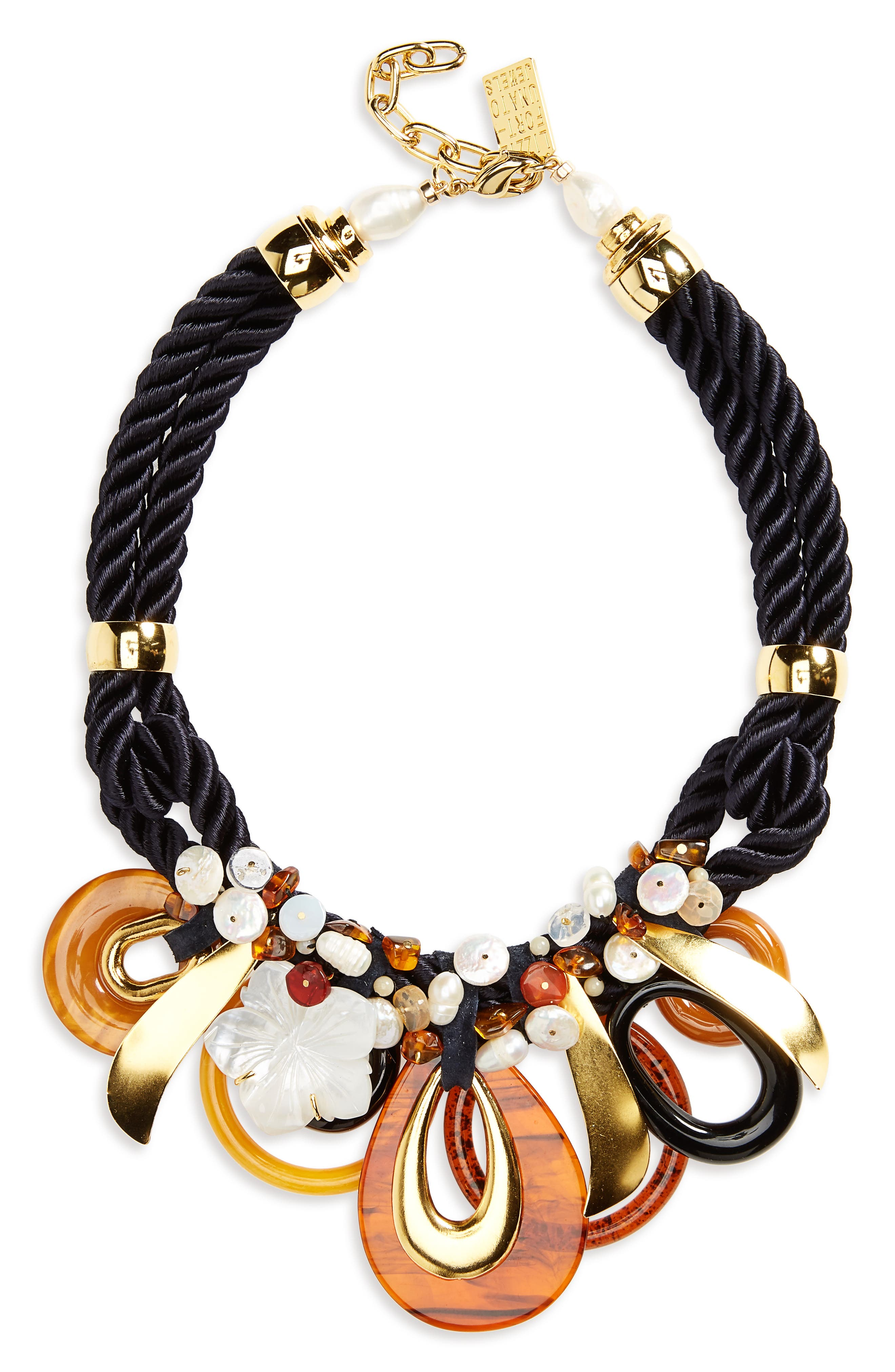 Lizzie Fortunato Dawn & Dusk Pearl Rope Necklace