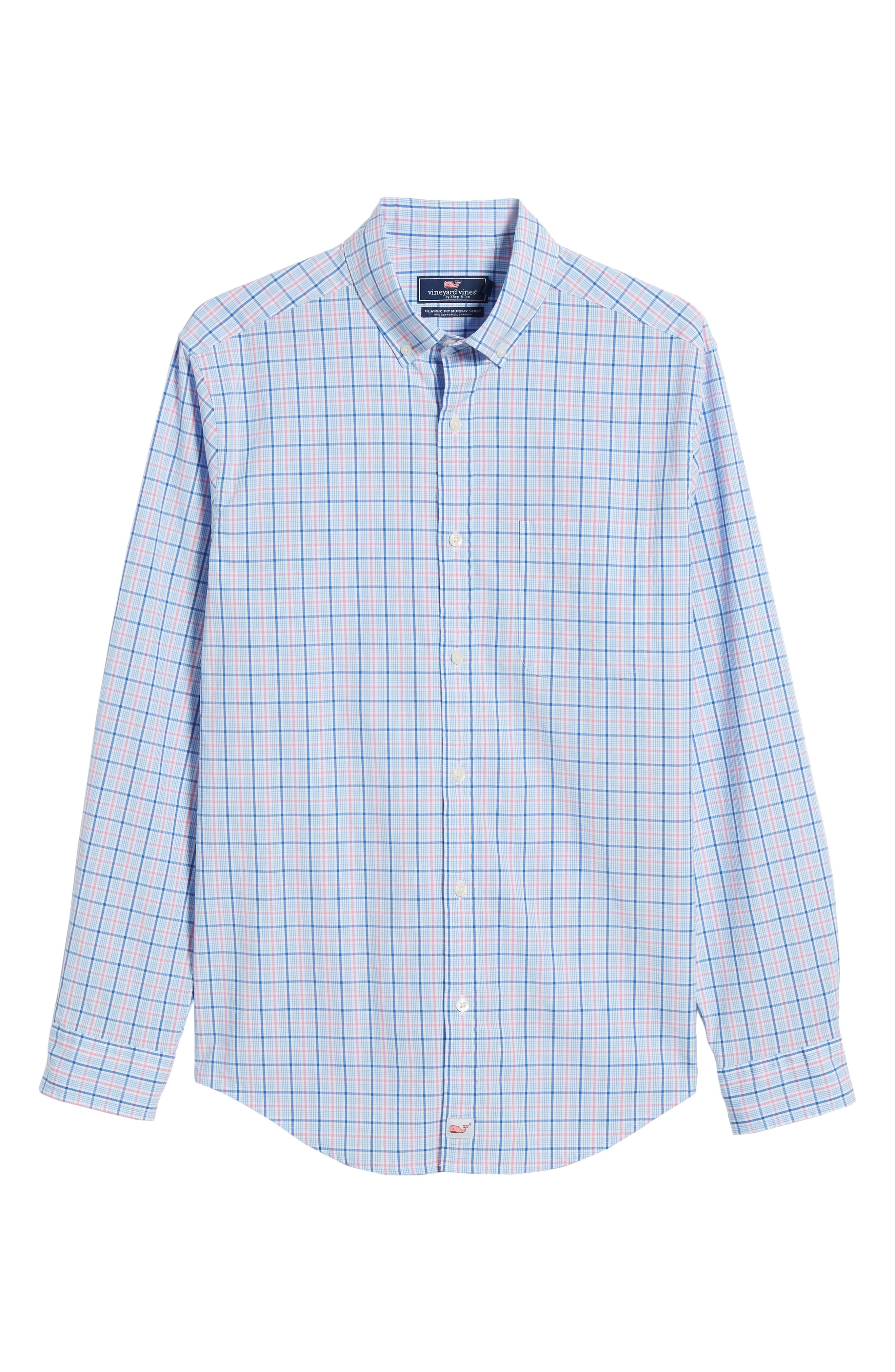 Sir Christie Classic Fit Check Sport Shirt,                             Alternate thumbnail 6, color,                             Spinnaker