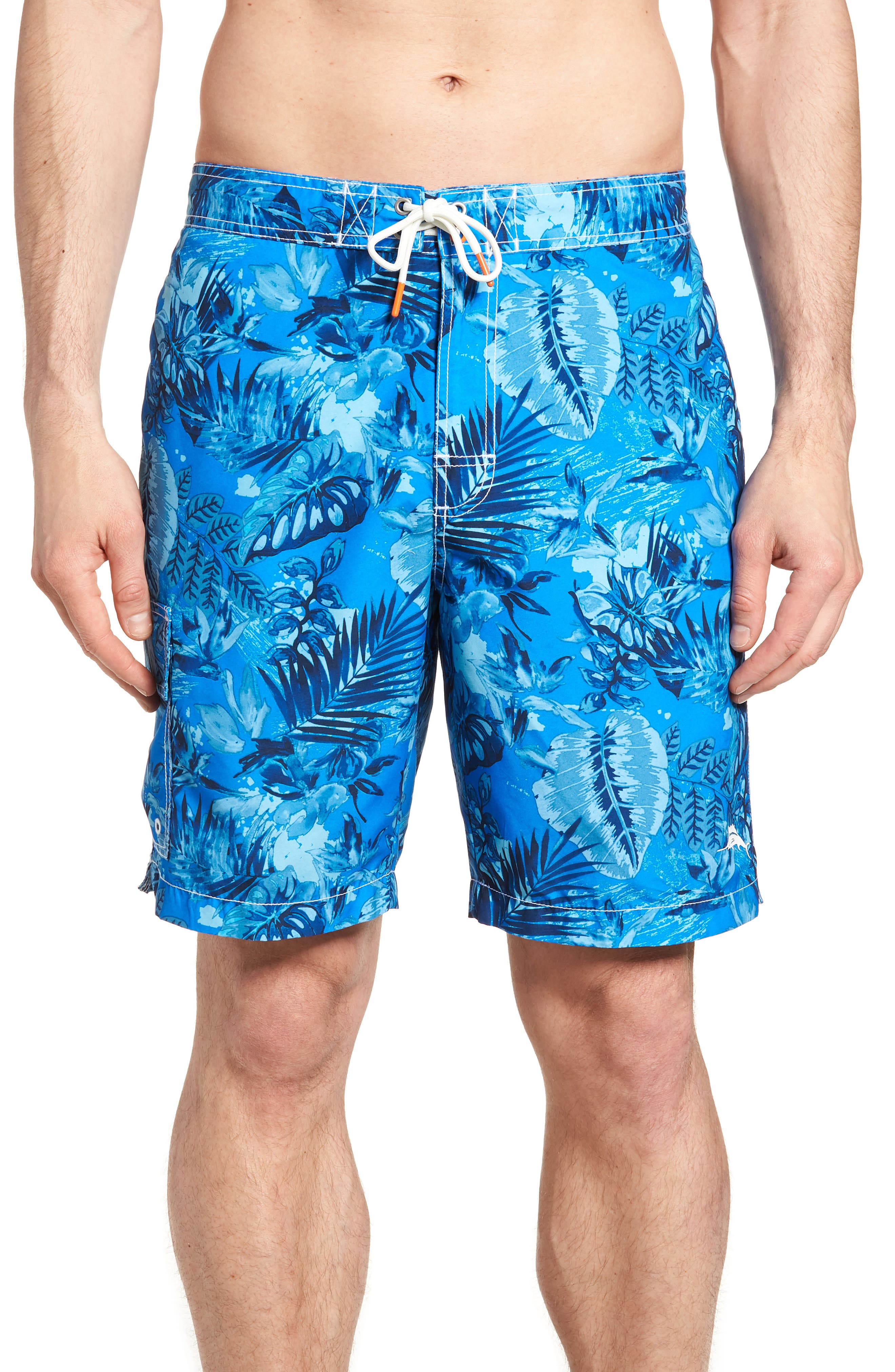 Baja Selva Shores Board Shorts,                             Main thumbnail 1, color,                             Blue Spark