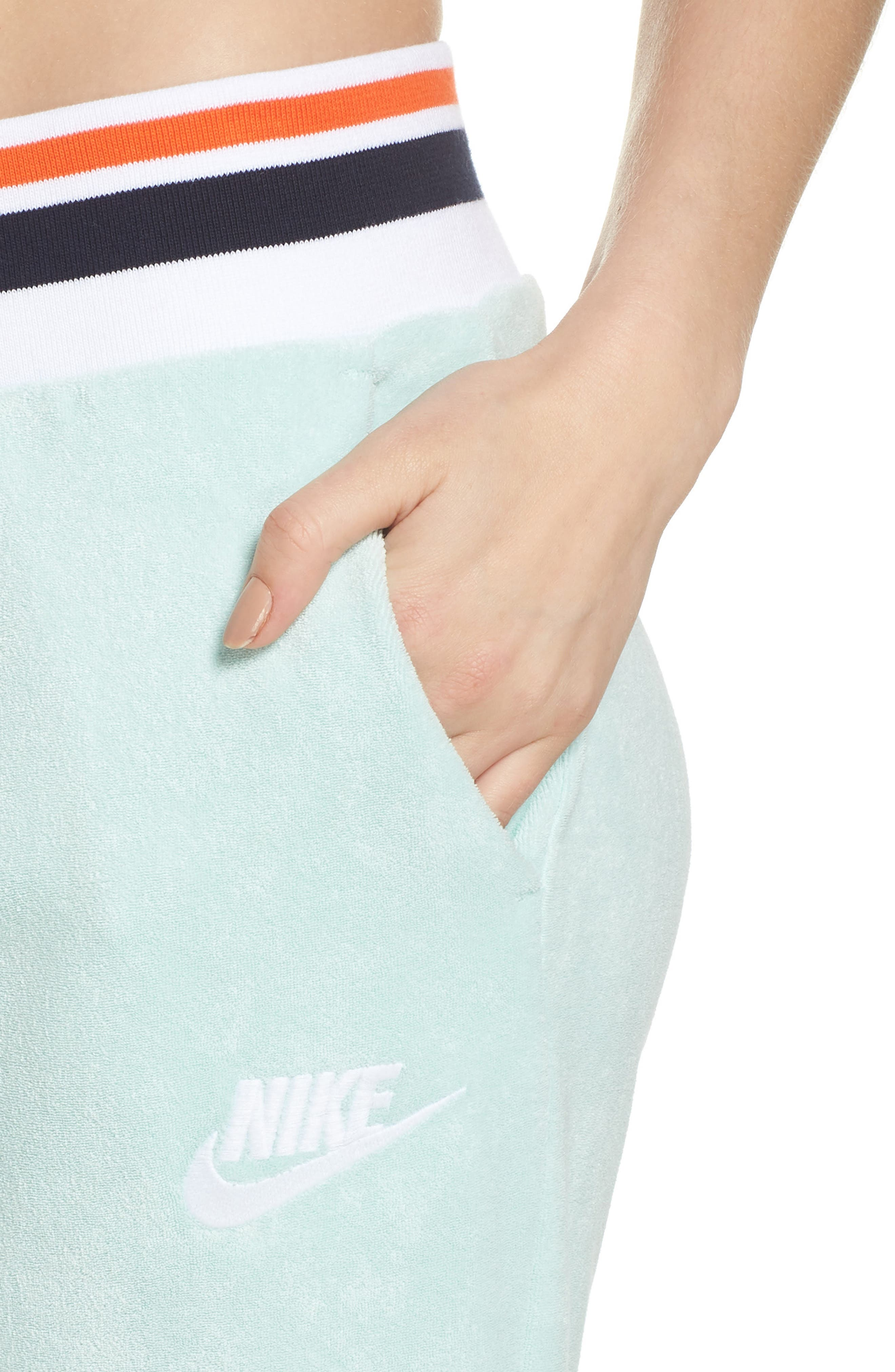 Sportswear French Terry Pants,                             Alternate thumbnail 4, color,                             Igloo/ White