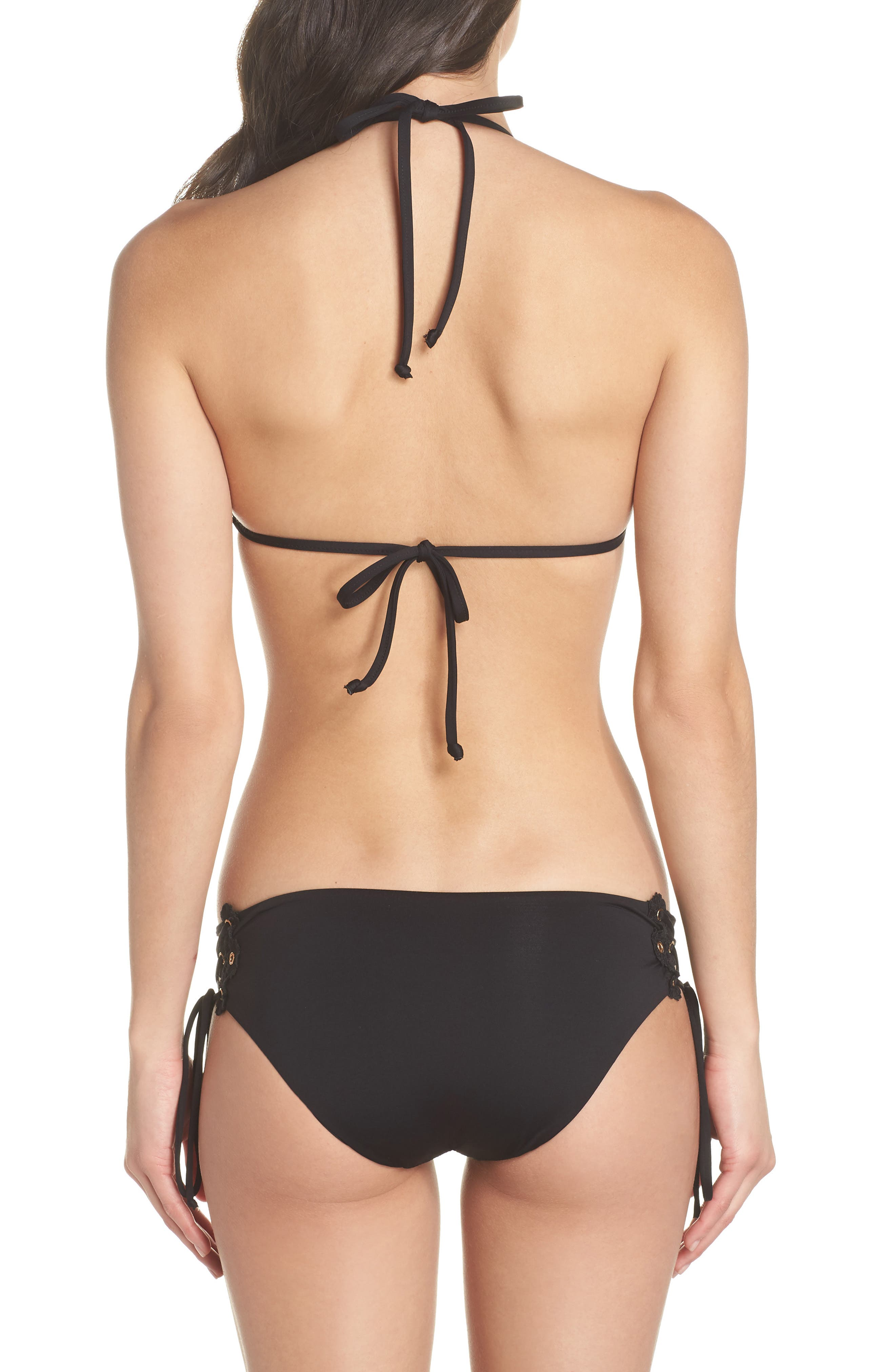 Set Sail Triangle Bikini Top,                             Alternate thumbnail 8, color,                             Black