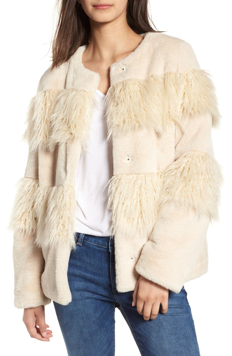 Mixed Faux Fur Jacket