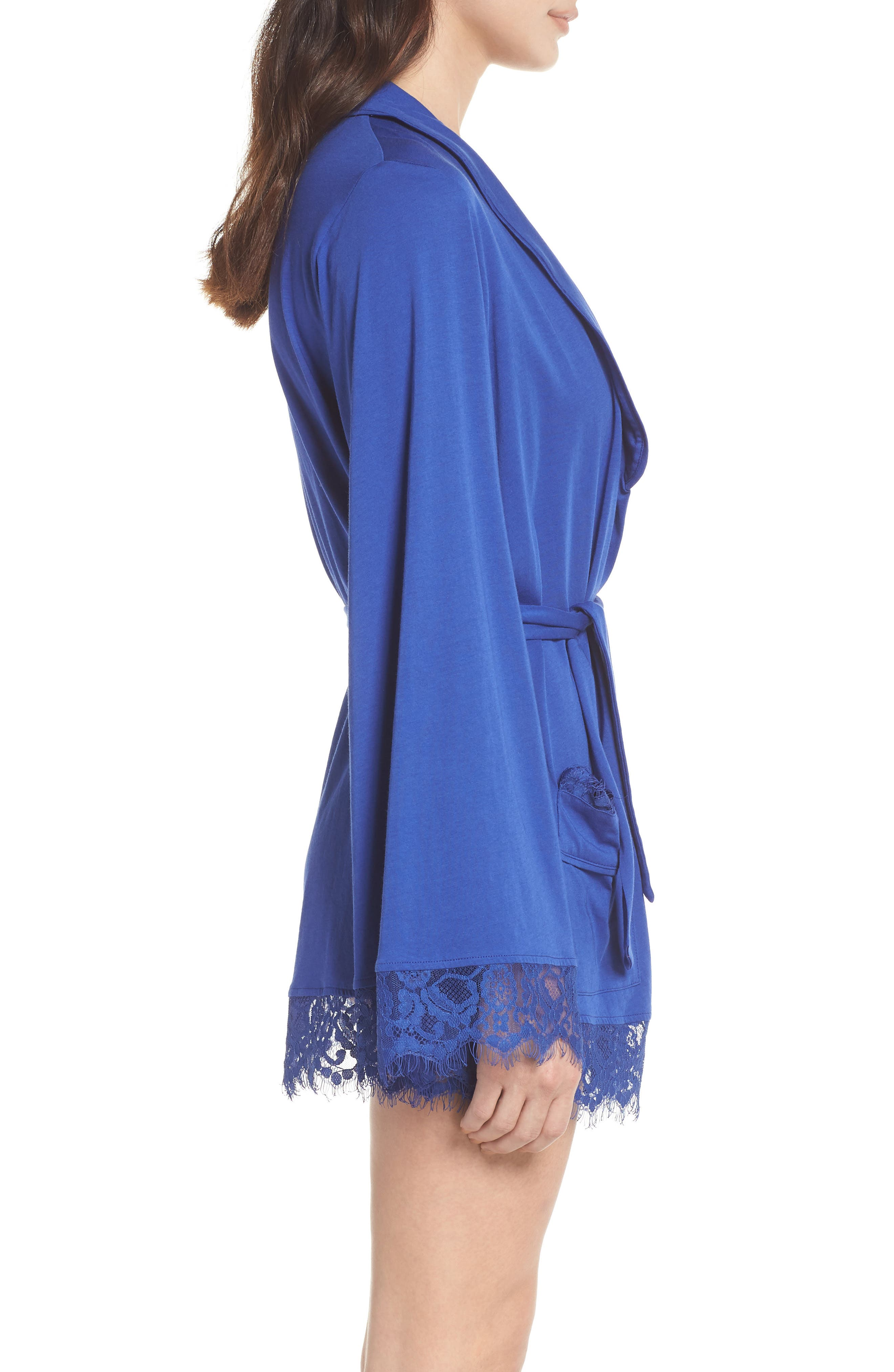 Sweetest Thing Robe,                             Alternate thumbnail 3, color,                             Blue