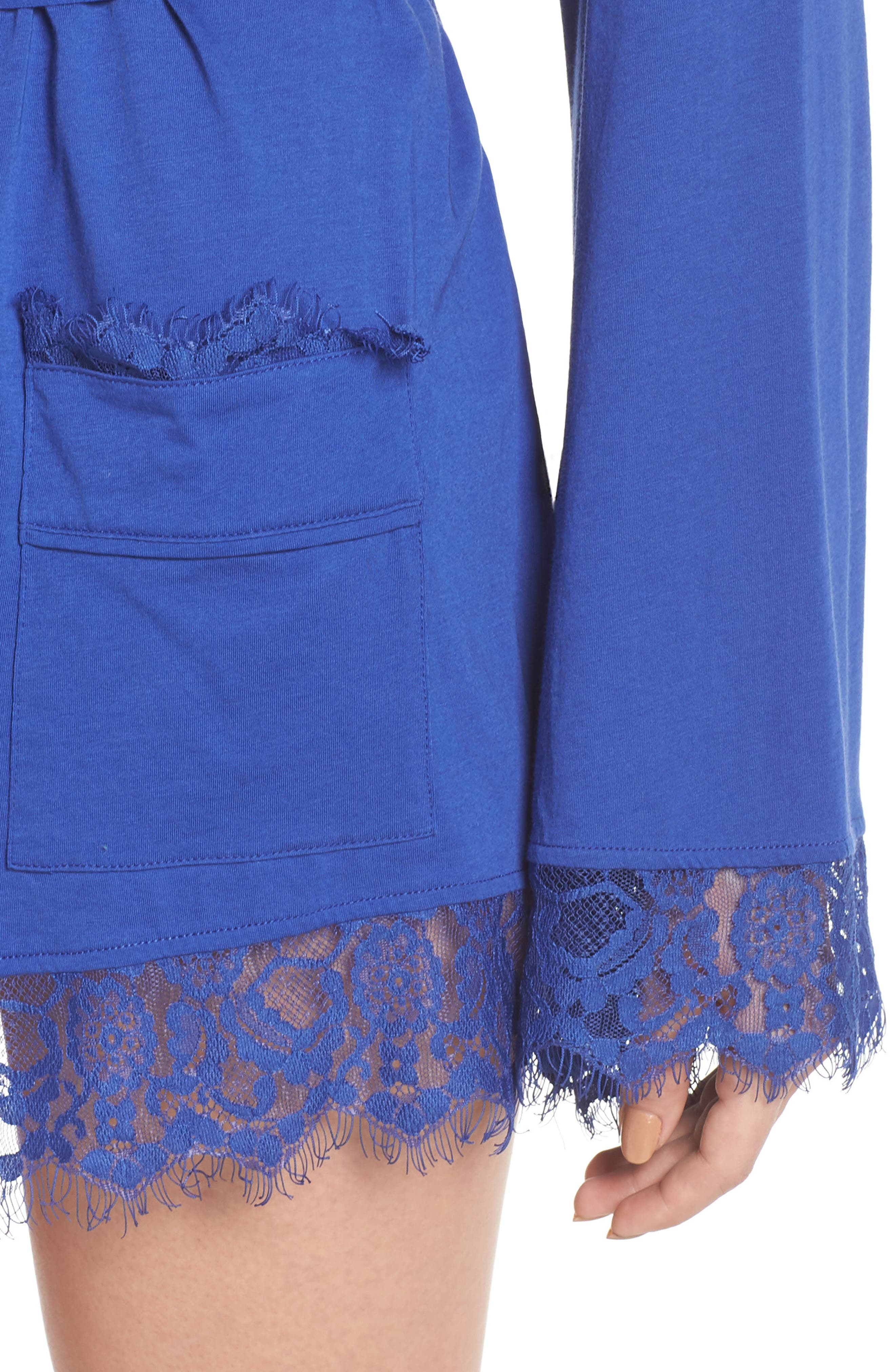 Sweetest Thing Robe,                             Alternate thumbnail 5, color,                             Blue