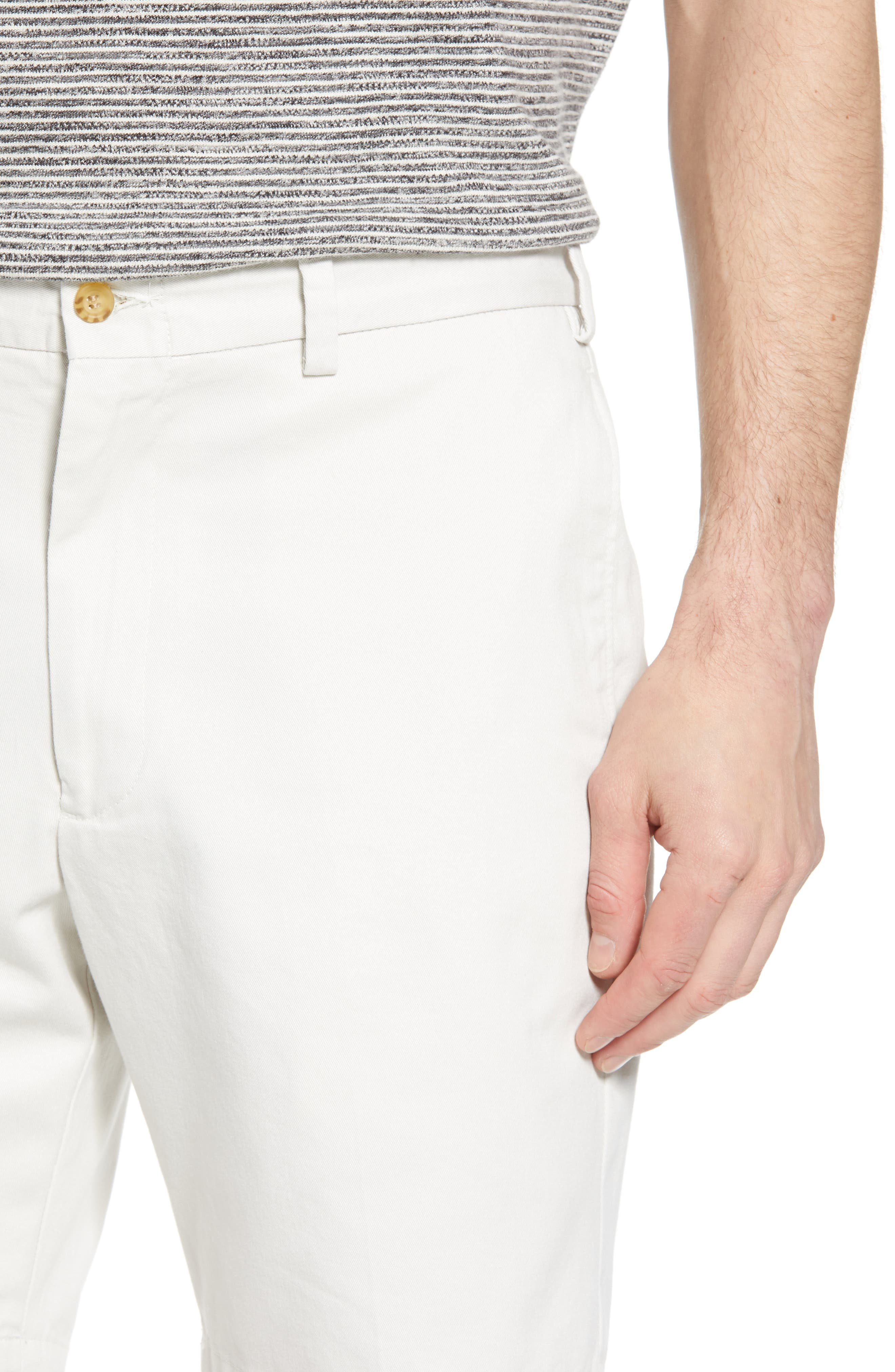 M2 Classic Fit Flat Front Vintage Twill Shorts,                             Alternate thumbnail 4, color,                             Stone