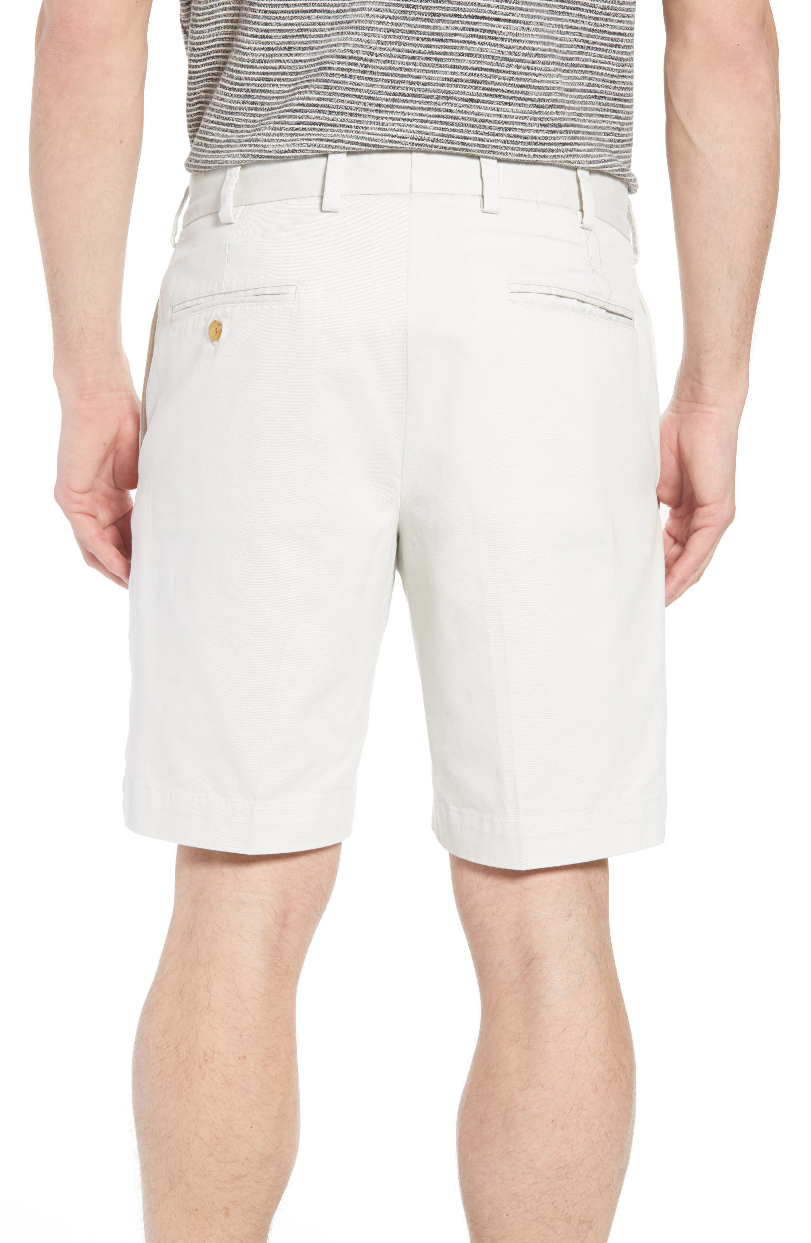 M2 Classic Fit Flat Front Vintage Twill Shorts,                             Alternate thumbnail 2, color,                             Stone