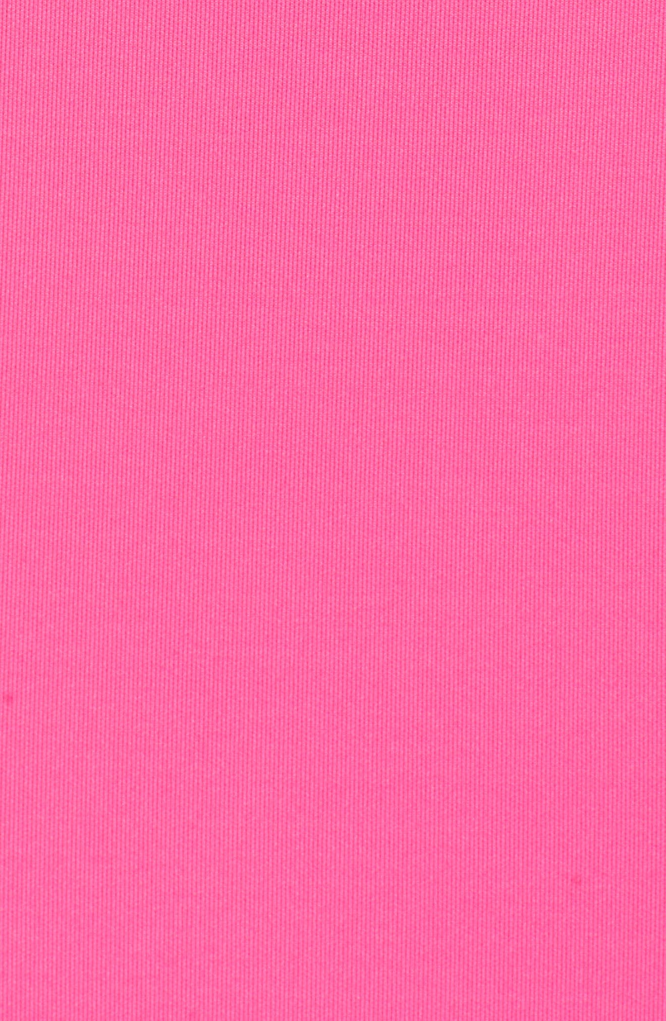 One-Shoulder Ruffle Sheath Dress,                             Alternate thumbnail 6, color,                             Hot Pink