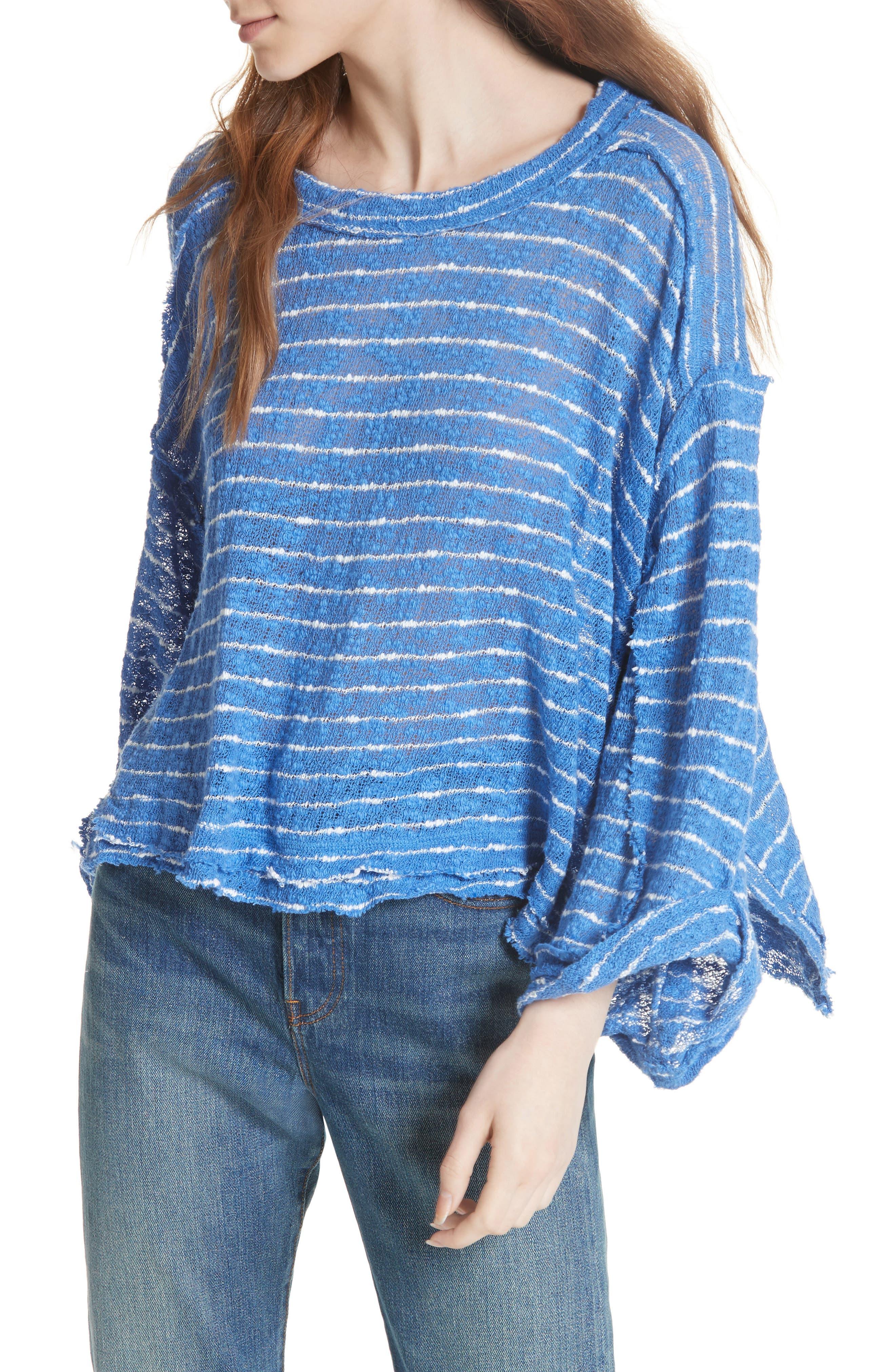 Alternate Image 1 Selected - Free People Island Girl Hacci Stripe Tee