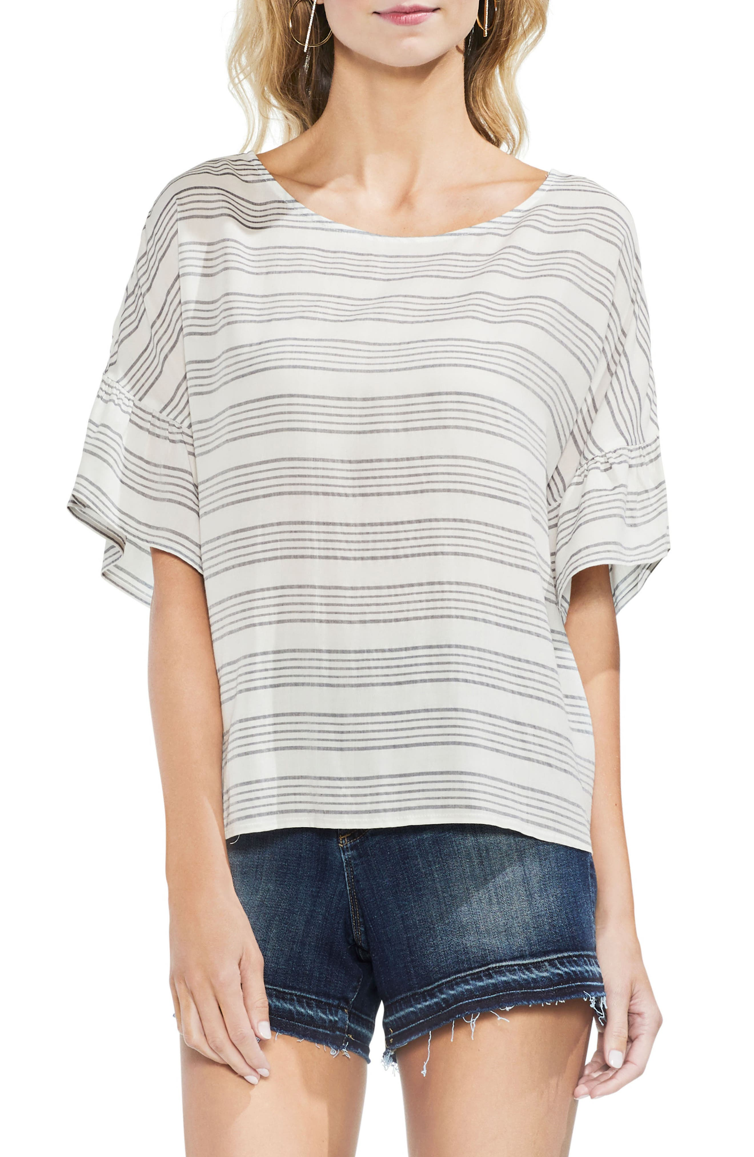 Striped Top,                         Main,                         color, 103-New Ivory