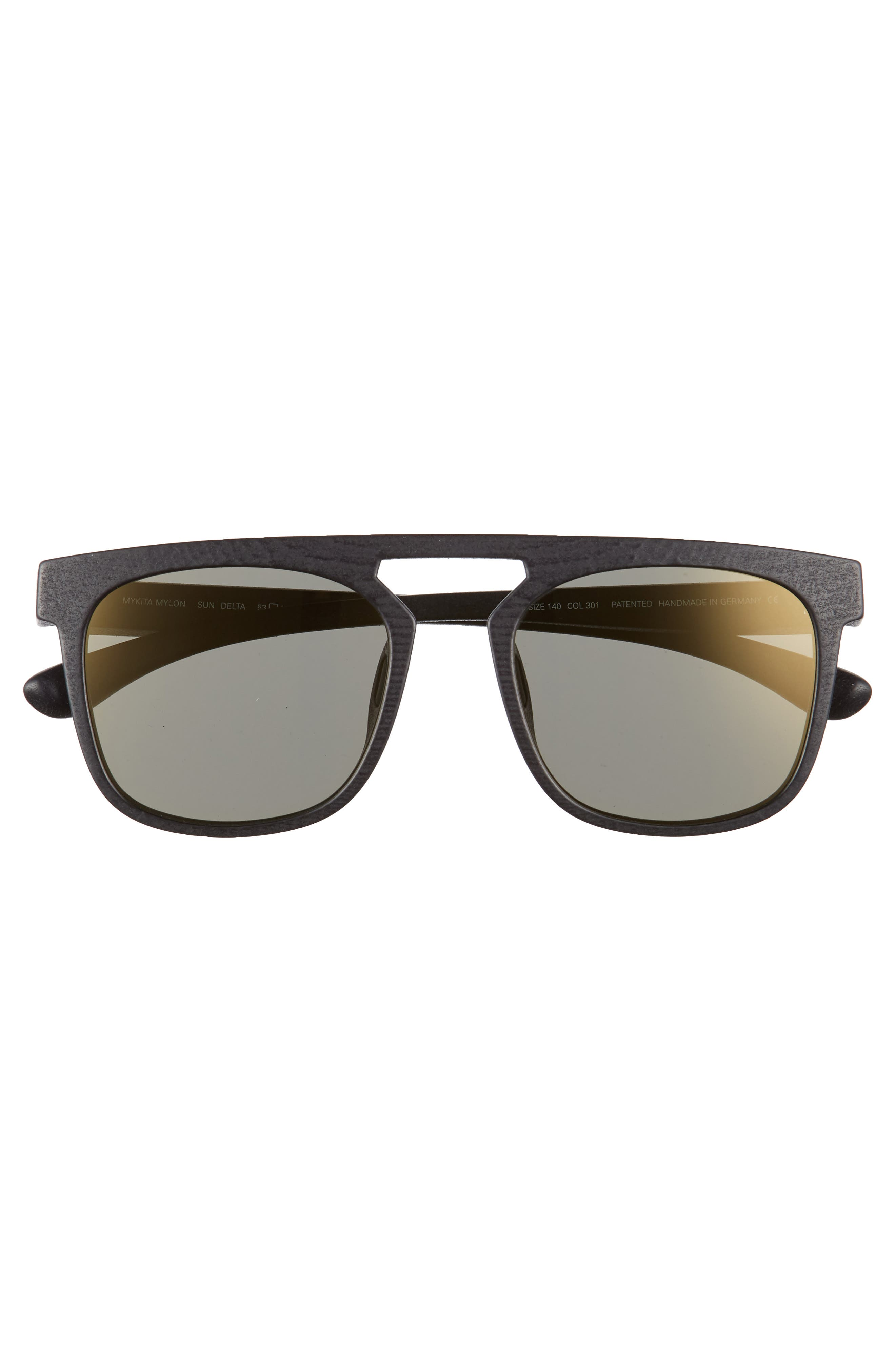 Delta 53mm Sunglasses,                             Alternate thumbnail 2, color,                             Pitch Black