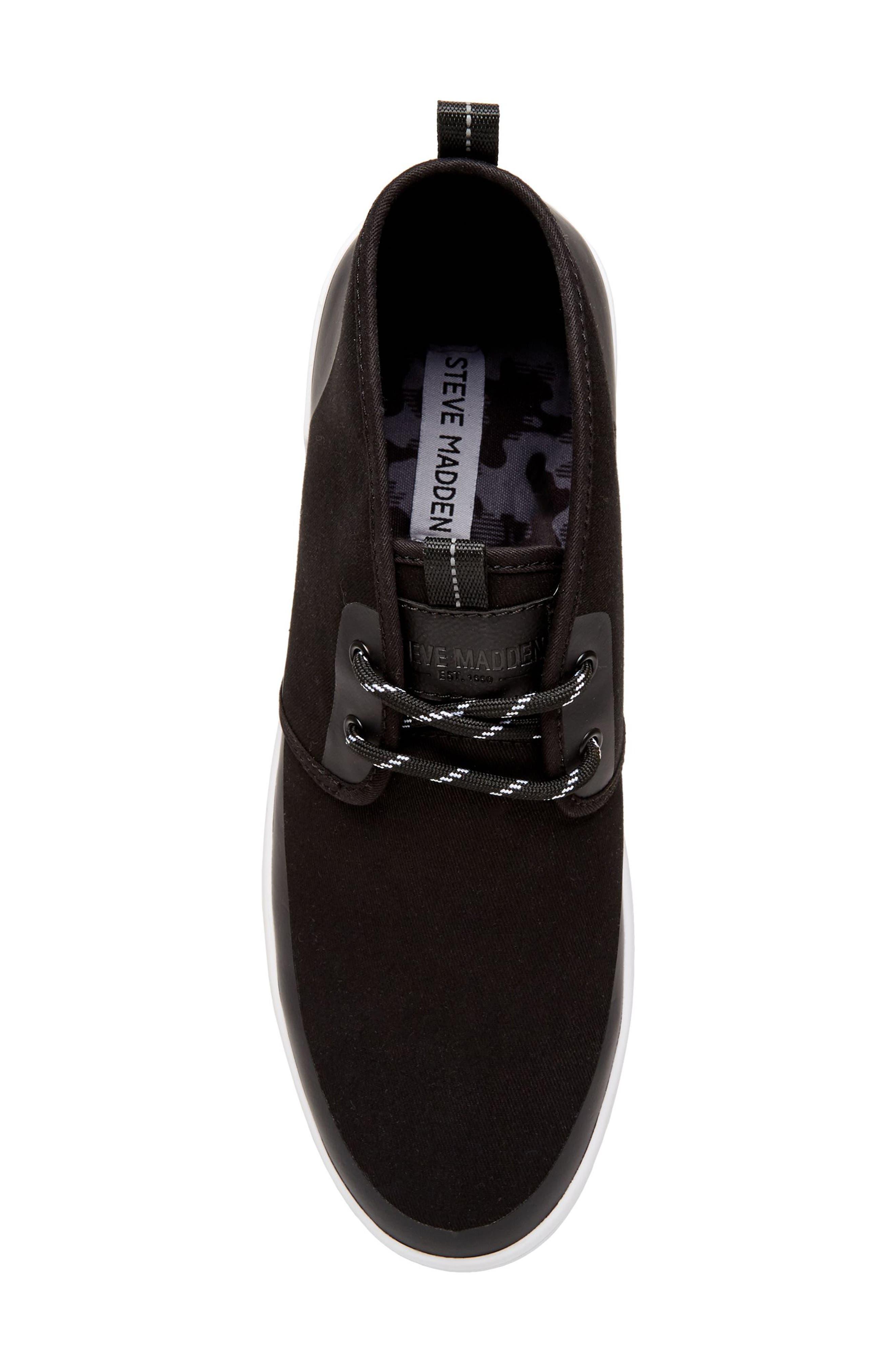 Franklyn Chukka Sneaker,                             Alternate thumbnail 5, color,                             Black Fabric