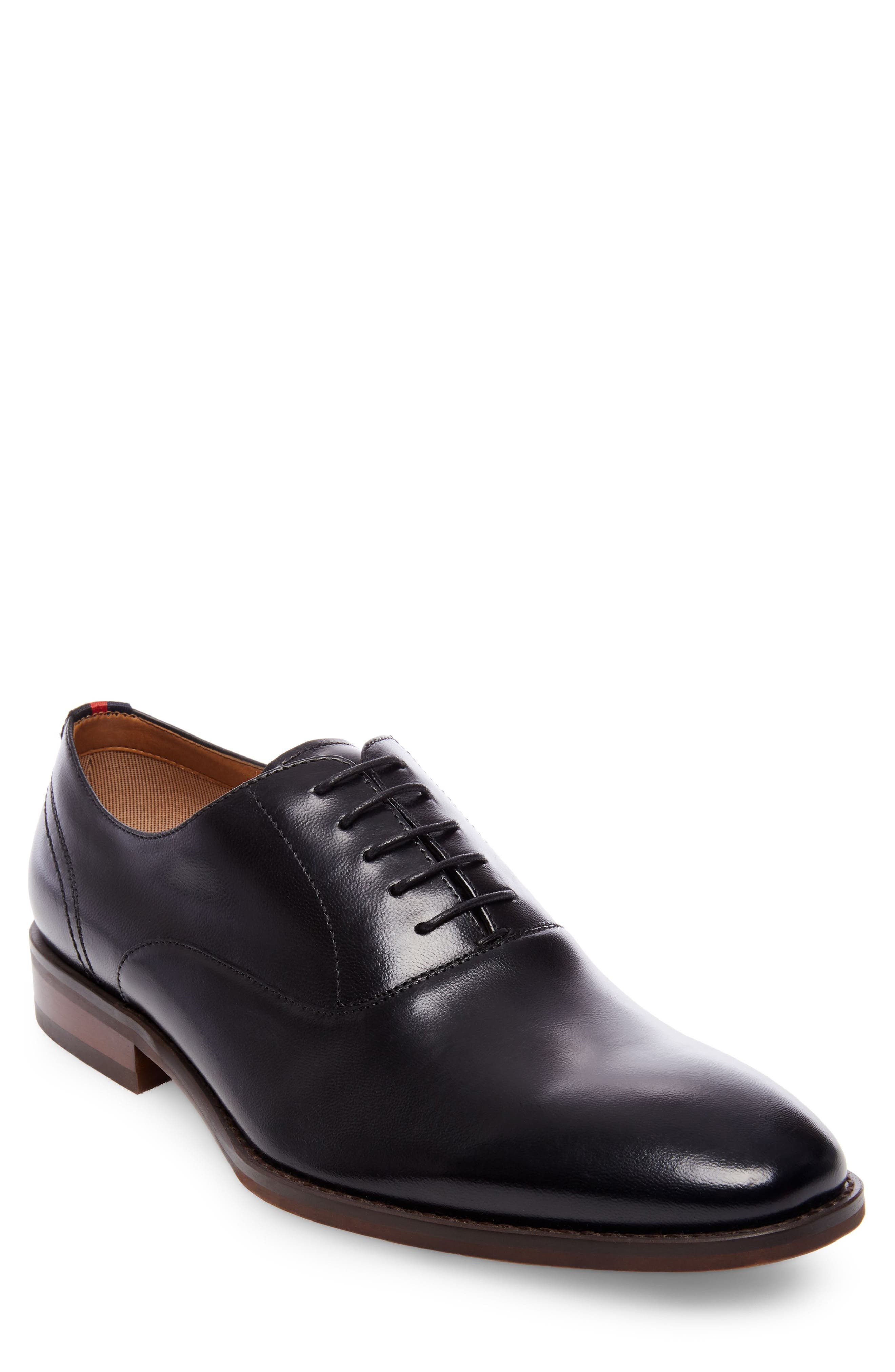 Driscoll Plain Toe Oxford,                             Main thumbnail 1, color,                             Black Leather