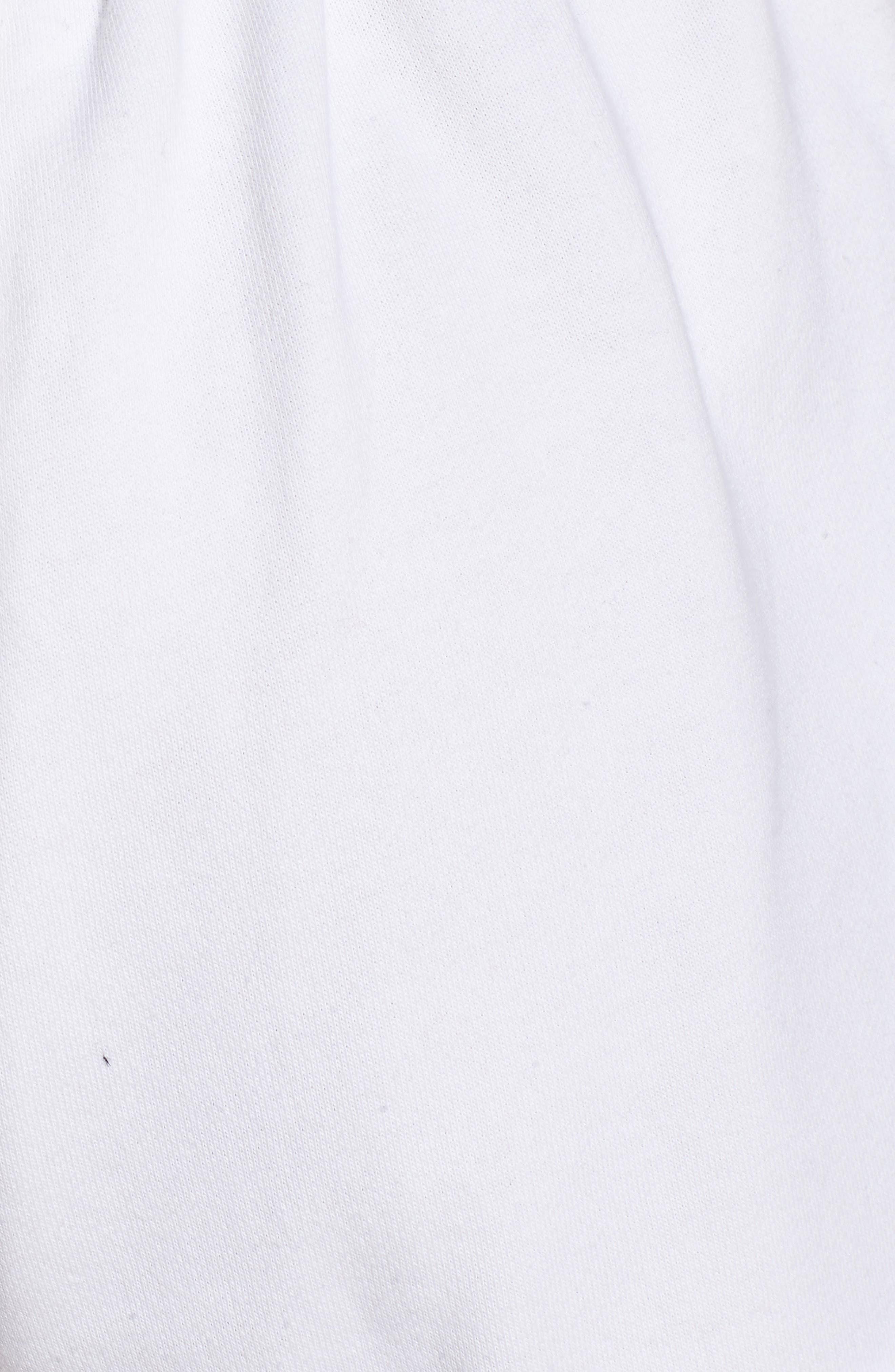 Rolled Drawstring Shorts,                             Alternate thumbnail 5, color,                             Bright White