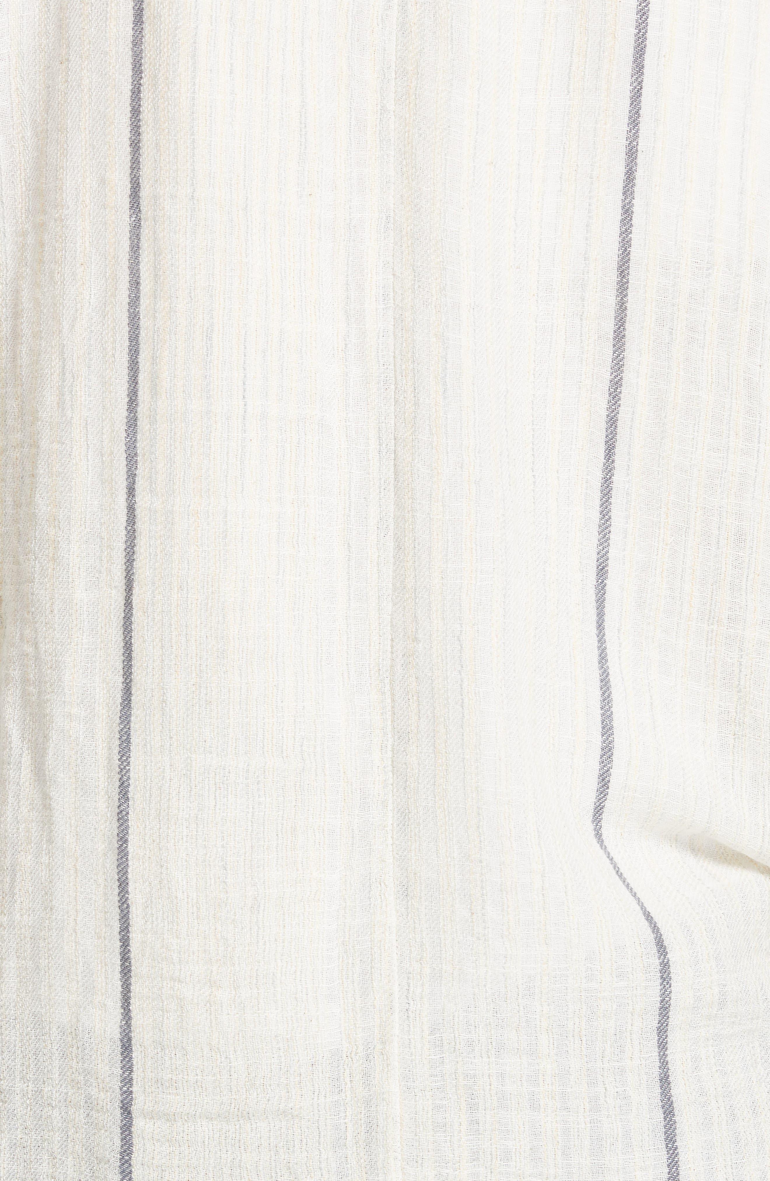 Aria Denim Collar Blazer,                             Alternate thumbnail 5, color,                             Ivory Combo