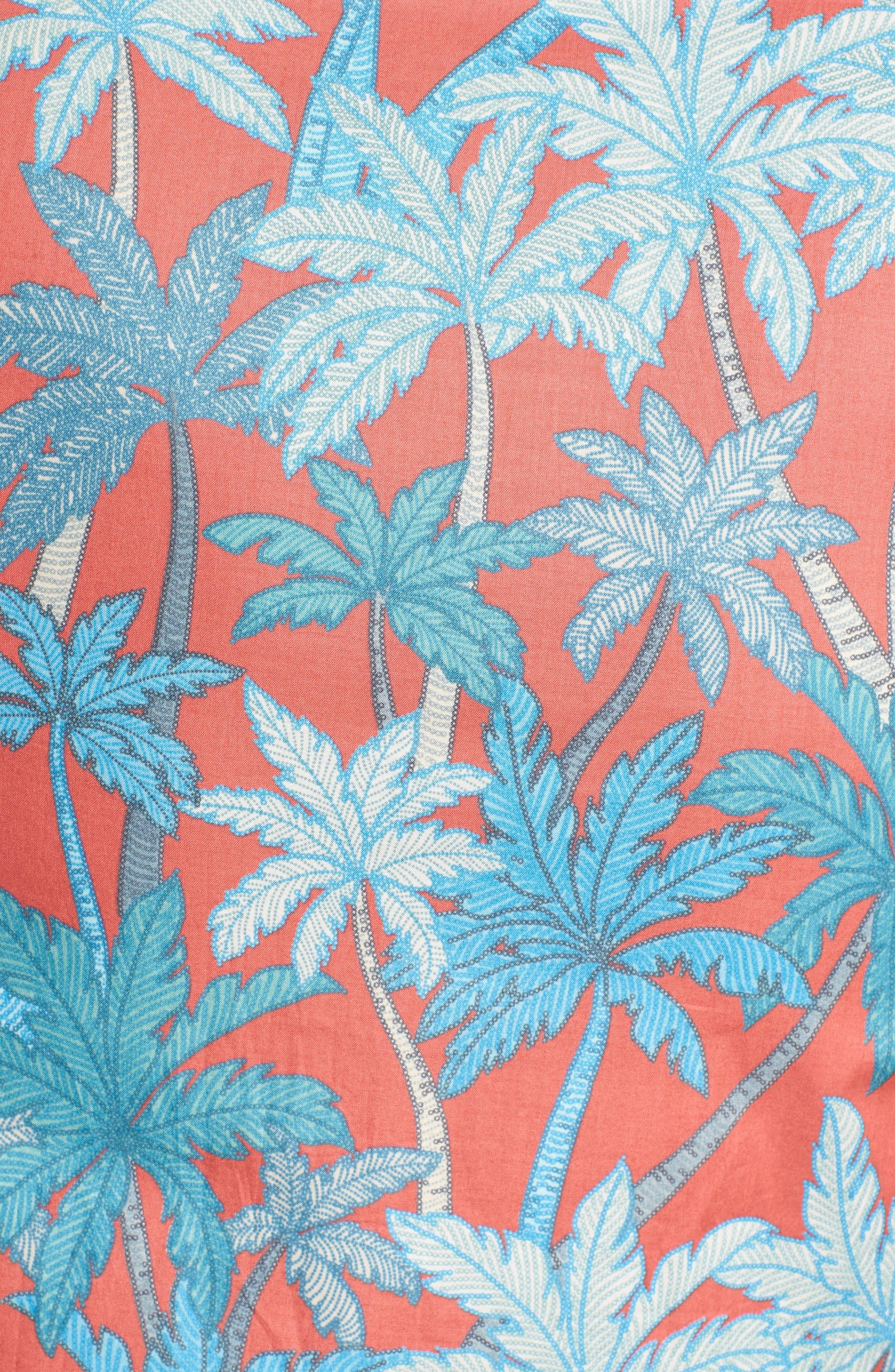 Pick a Palm Trim Fit Camp Shirt,                             Alternate thumbnail 5, color,                             Guava