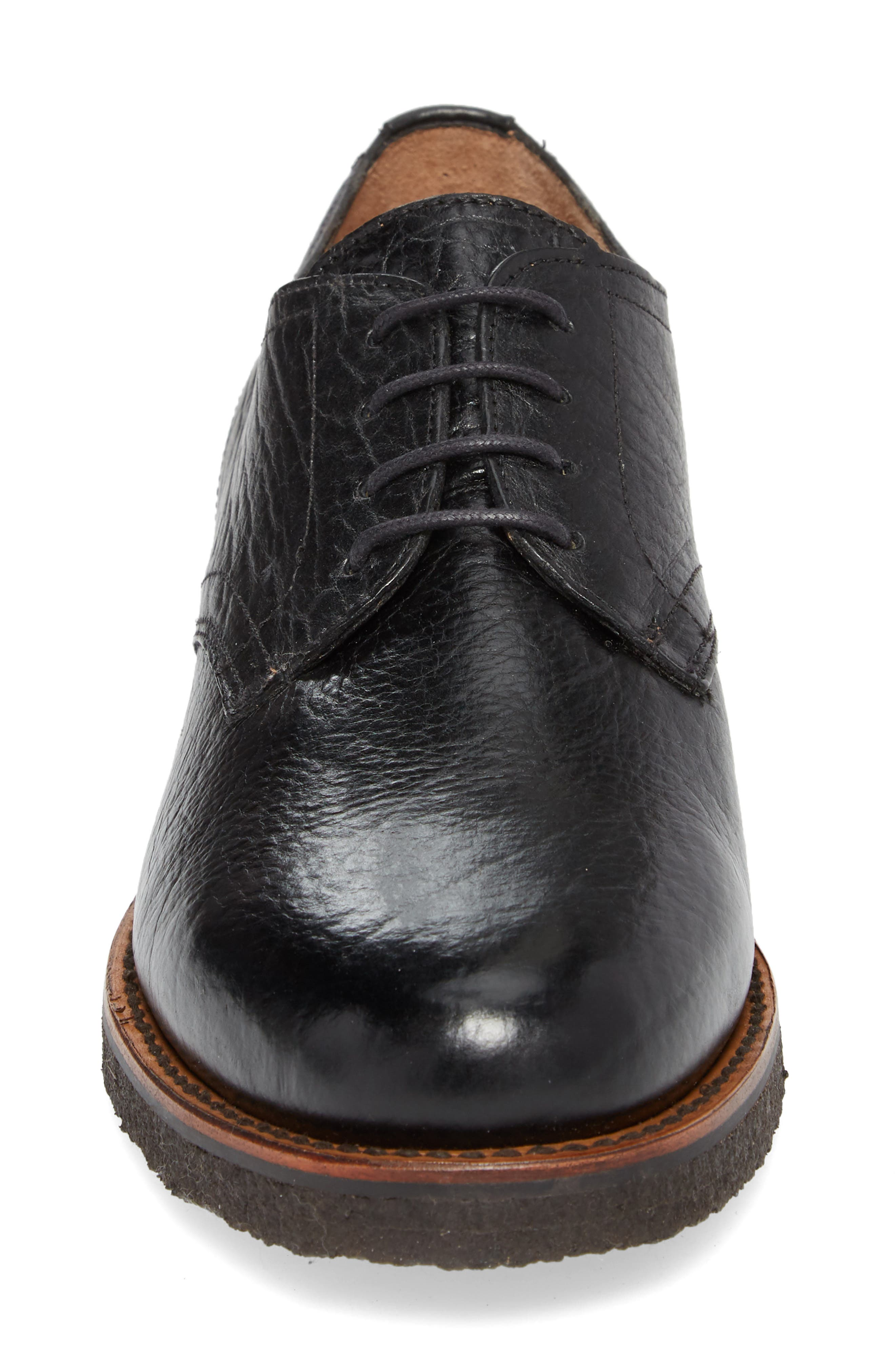 Two24 by Ariat Hawthorne Plain Toe Derby,                             Alternate thumbnail 4, color,                             Black Leather