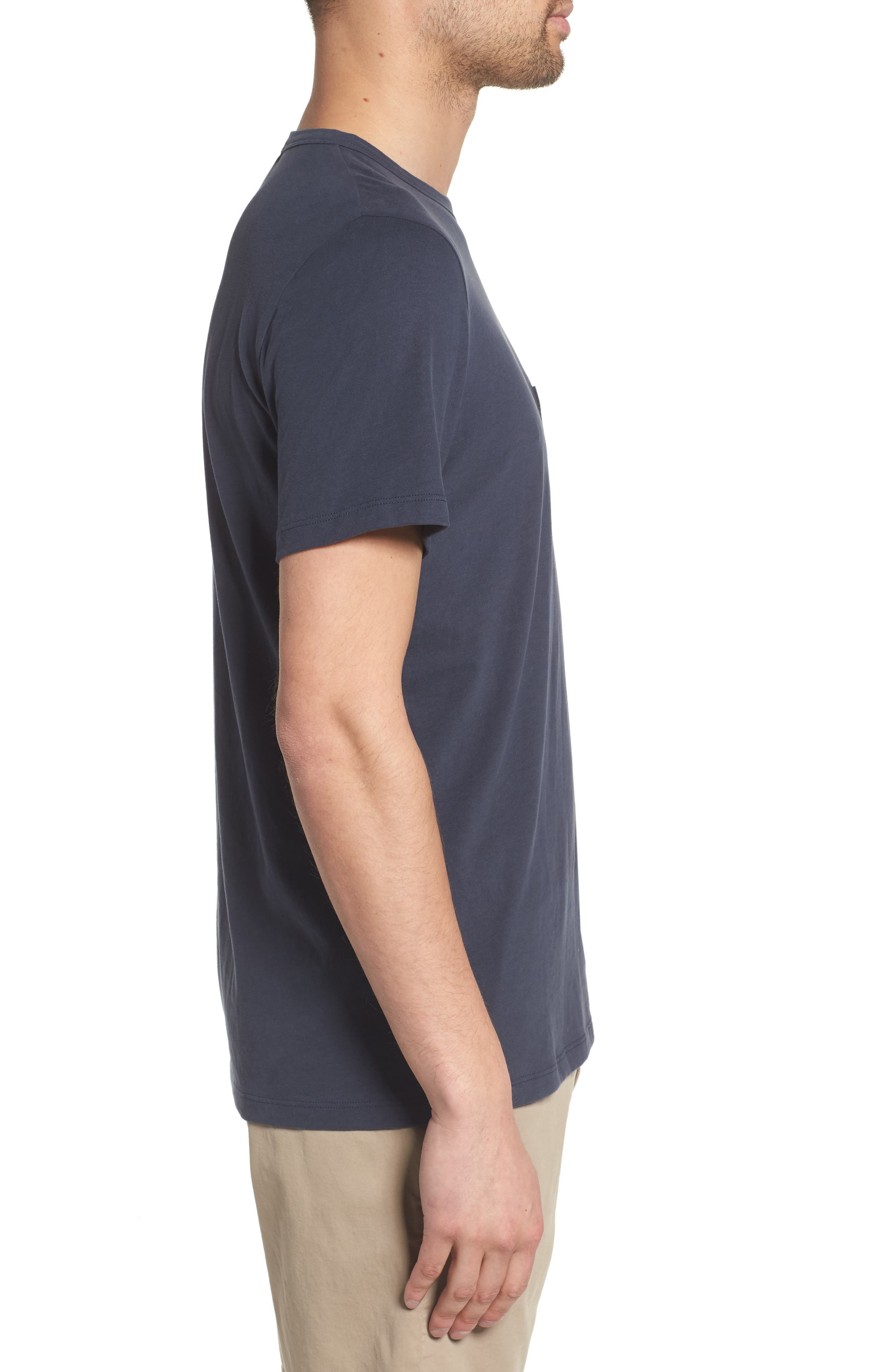 Essential Pocket T-Shirt,                             Alternate thumbnail 3, color,                             Finch