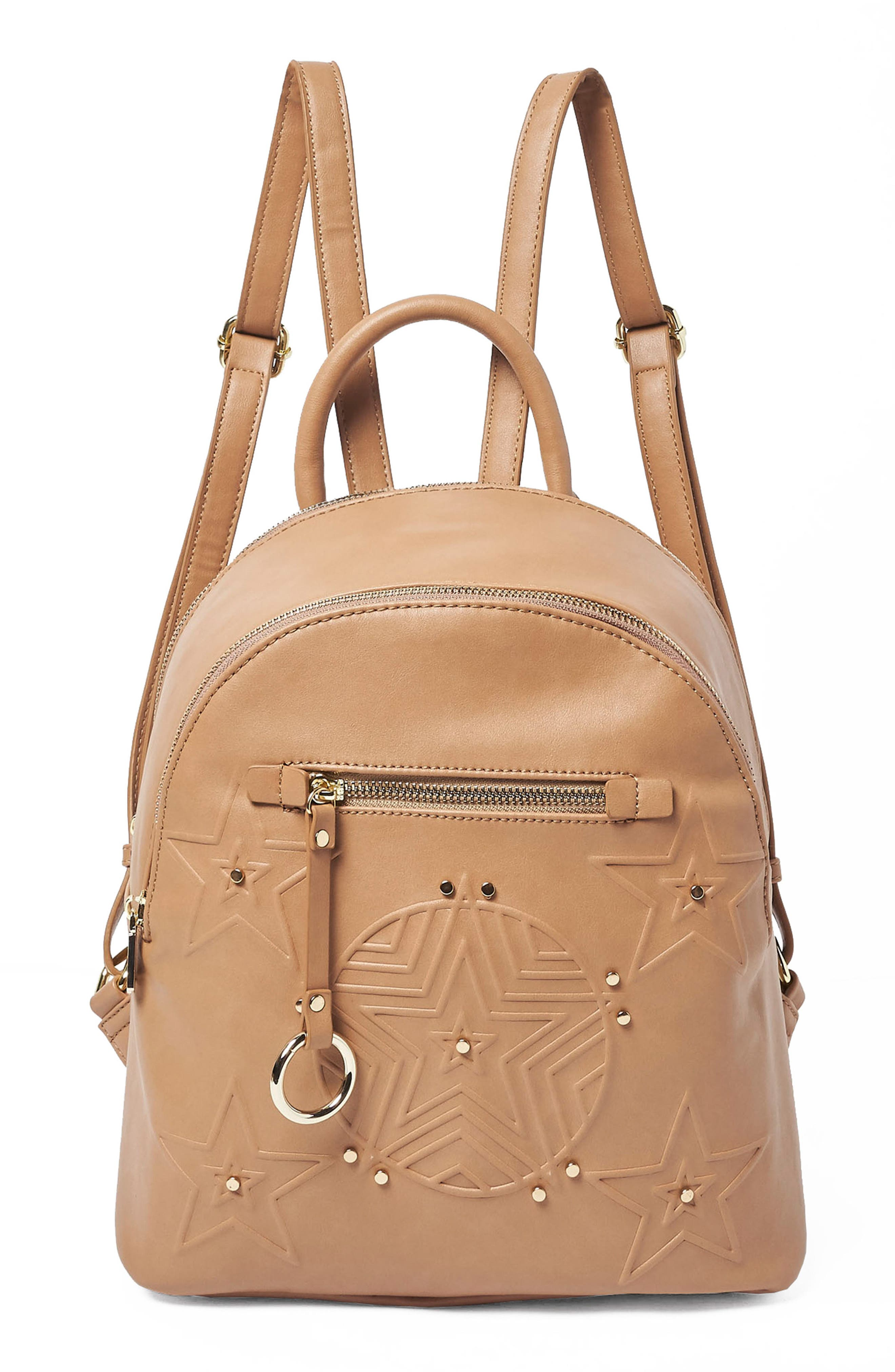 Urban Originals CELESTIAL VEGAN LEATHER BACKPACK - BEIGE