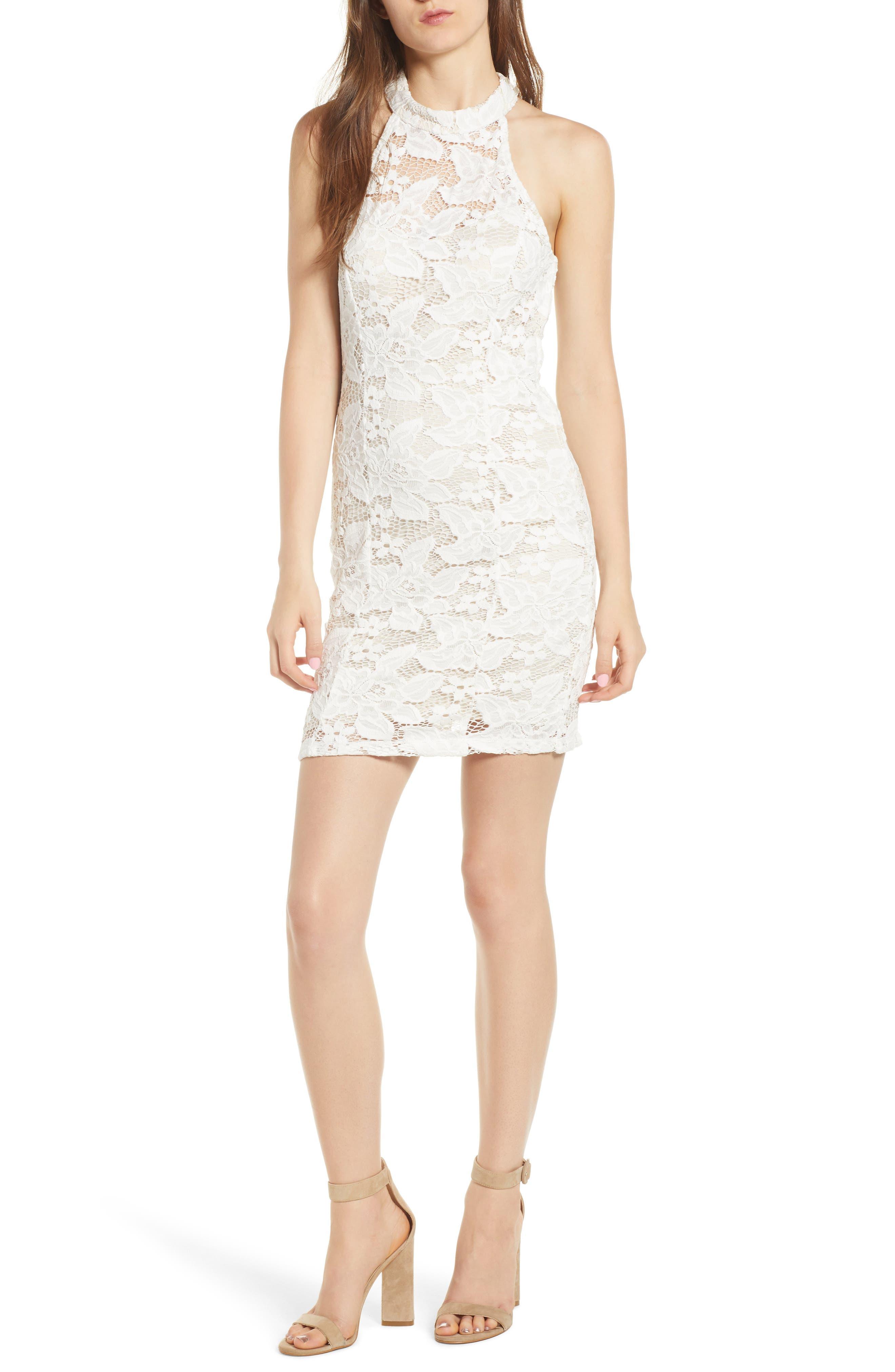 Speechless Lace Body-Con Minidress