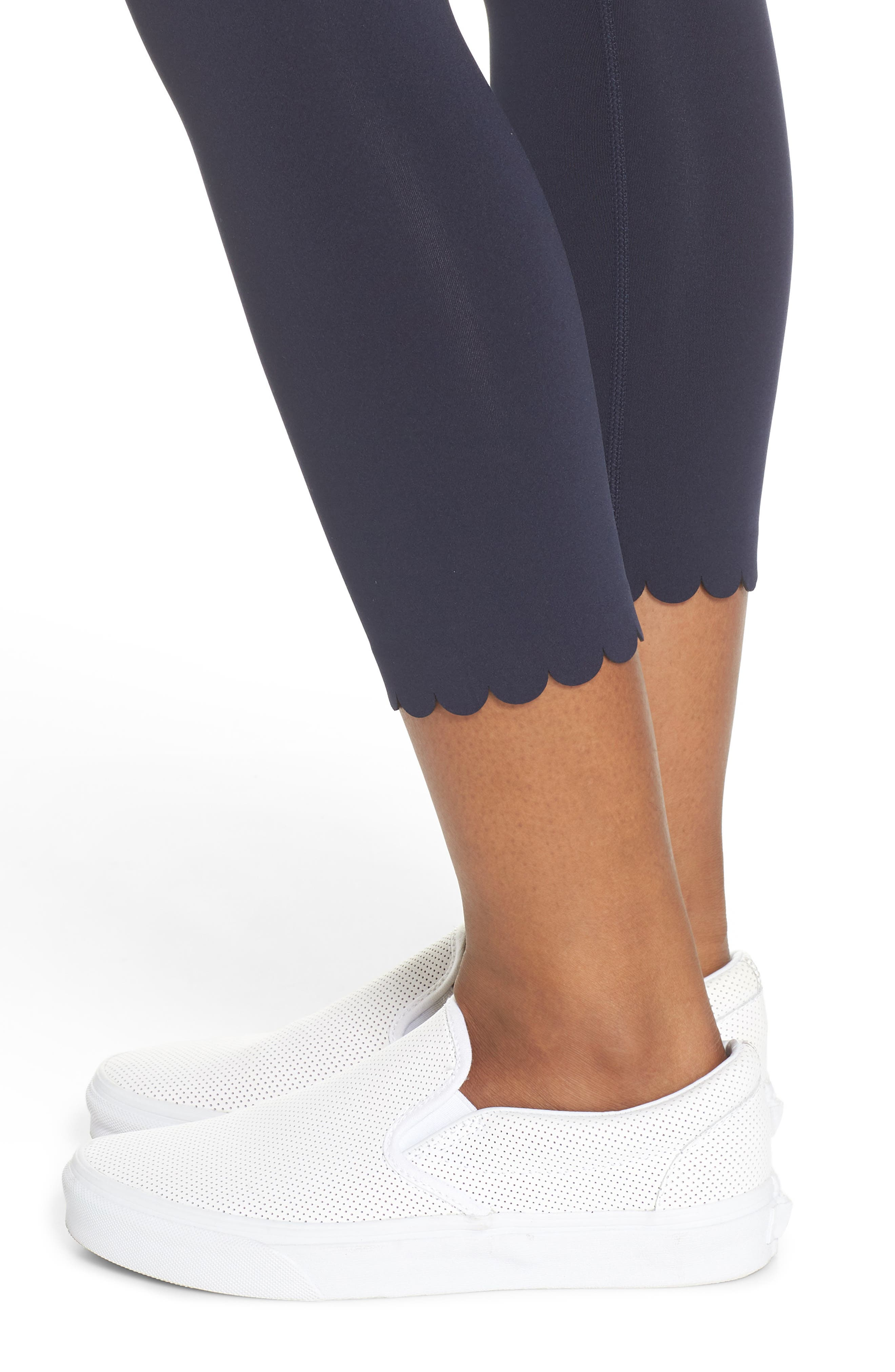Alternate Image 4  - kate spade new york scallop crop leggings