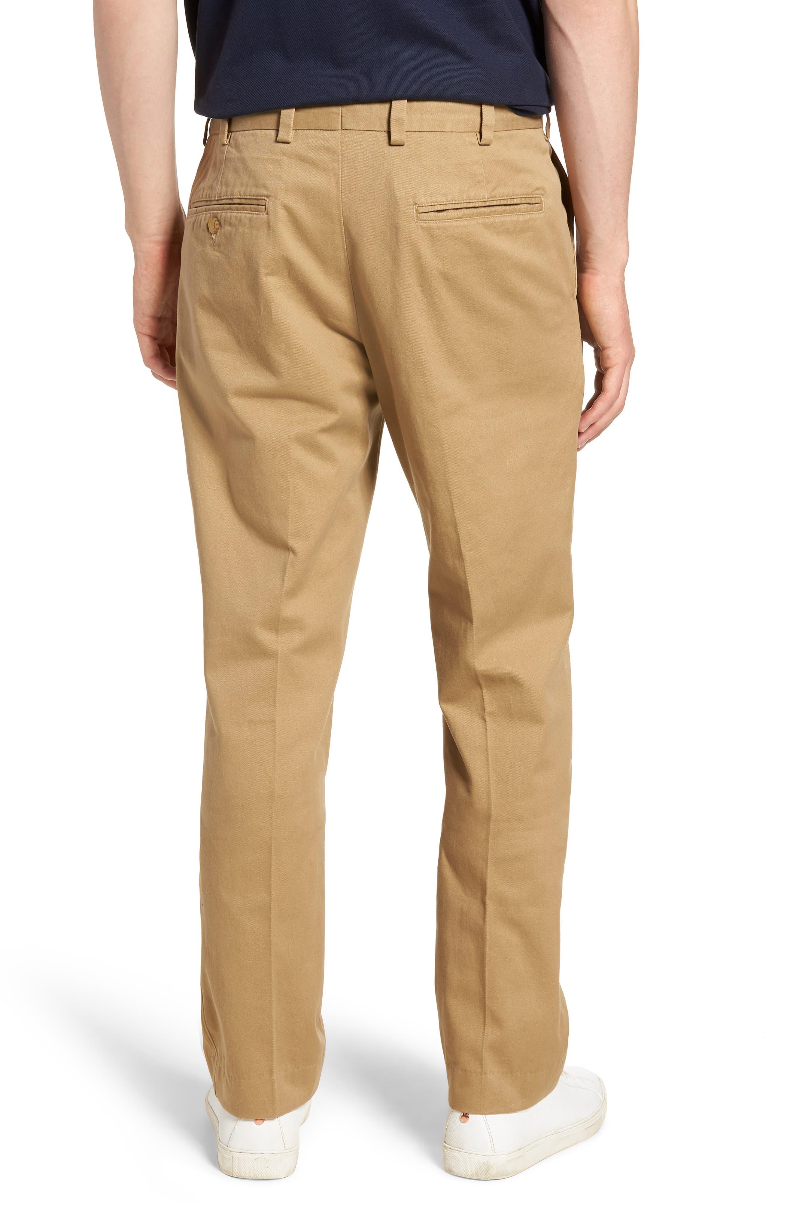 M3 Straight Fit Vintage Twill Flat Front Pants,                             Alternate thumbnail 2, color,                             British Khaki
