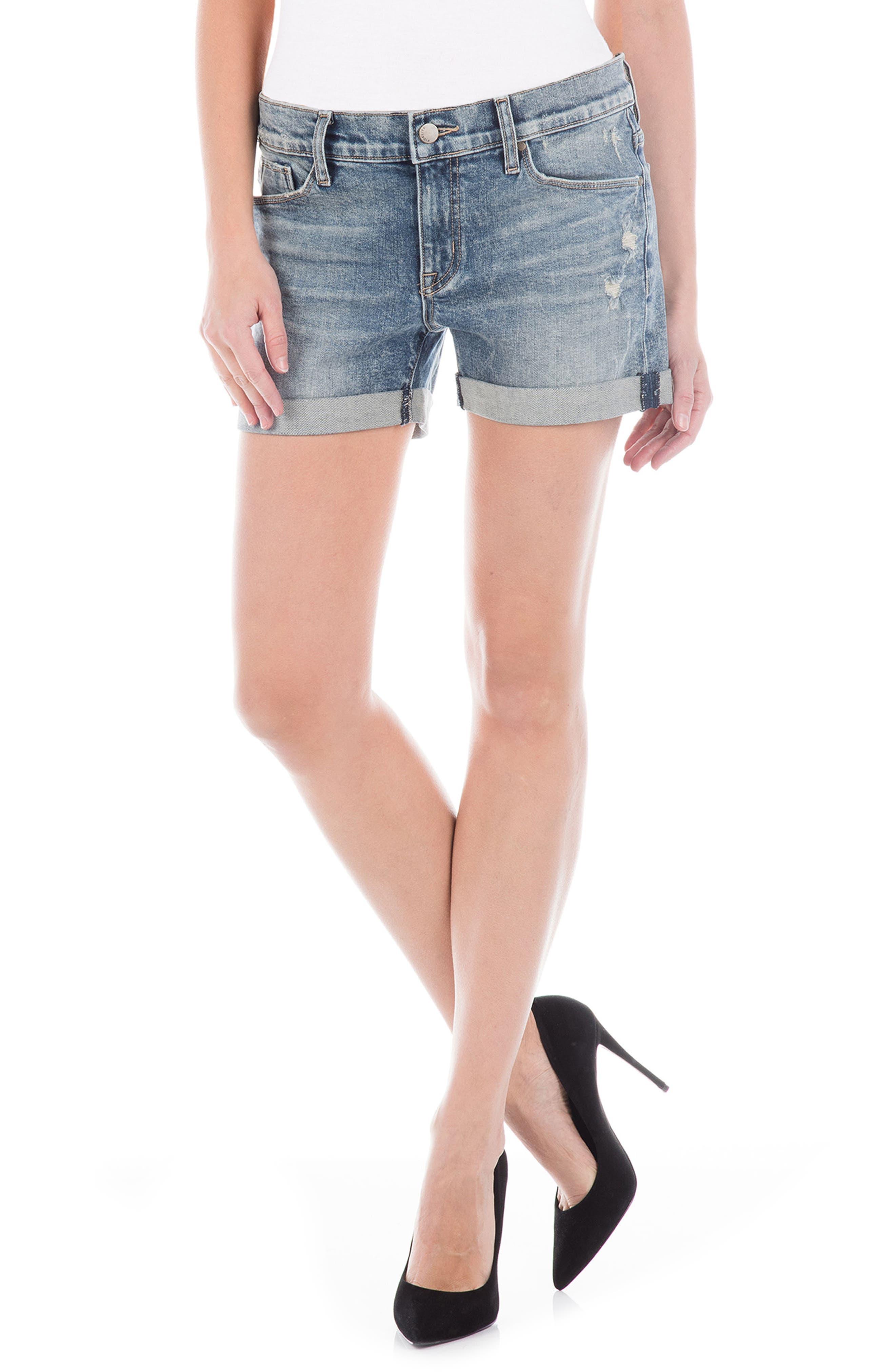 Malibu Denim Shorts,                         Main,                         color, Bondai