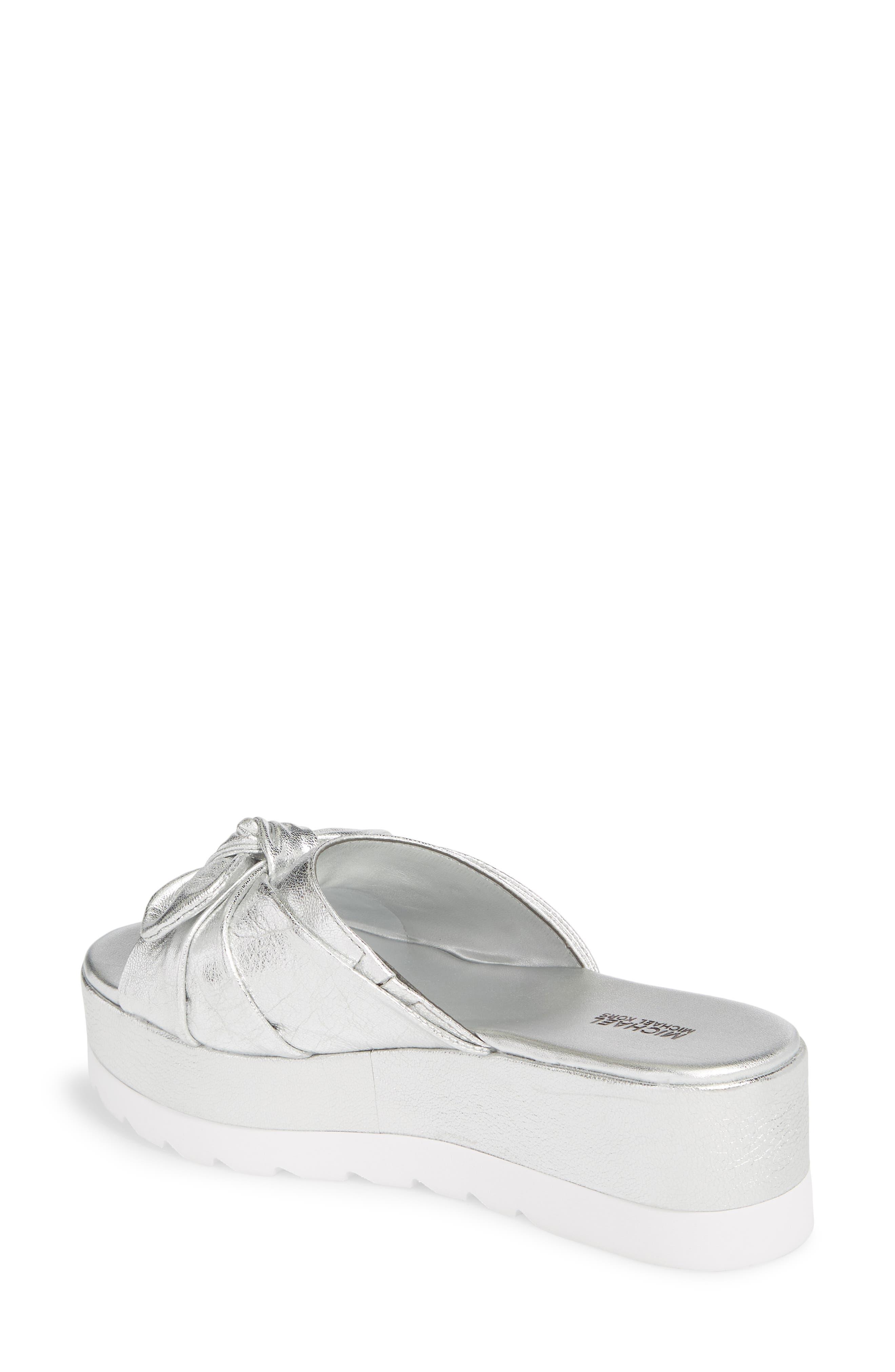 Pippa Platform Slide Sandal,                             Alternate thumbnail 2, color,                             Silver