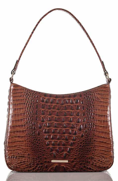 73dceac9ac40 Brahmin Noelle Croc Embossed Leather Hobo Bag