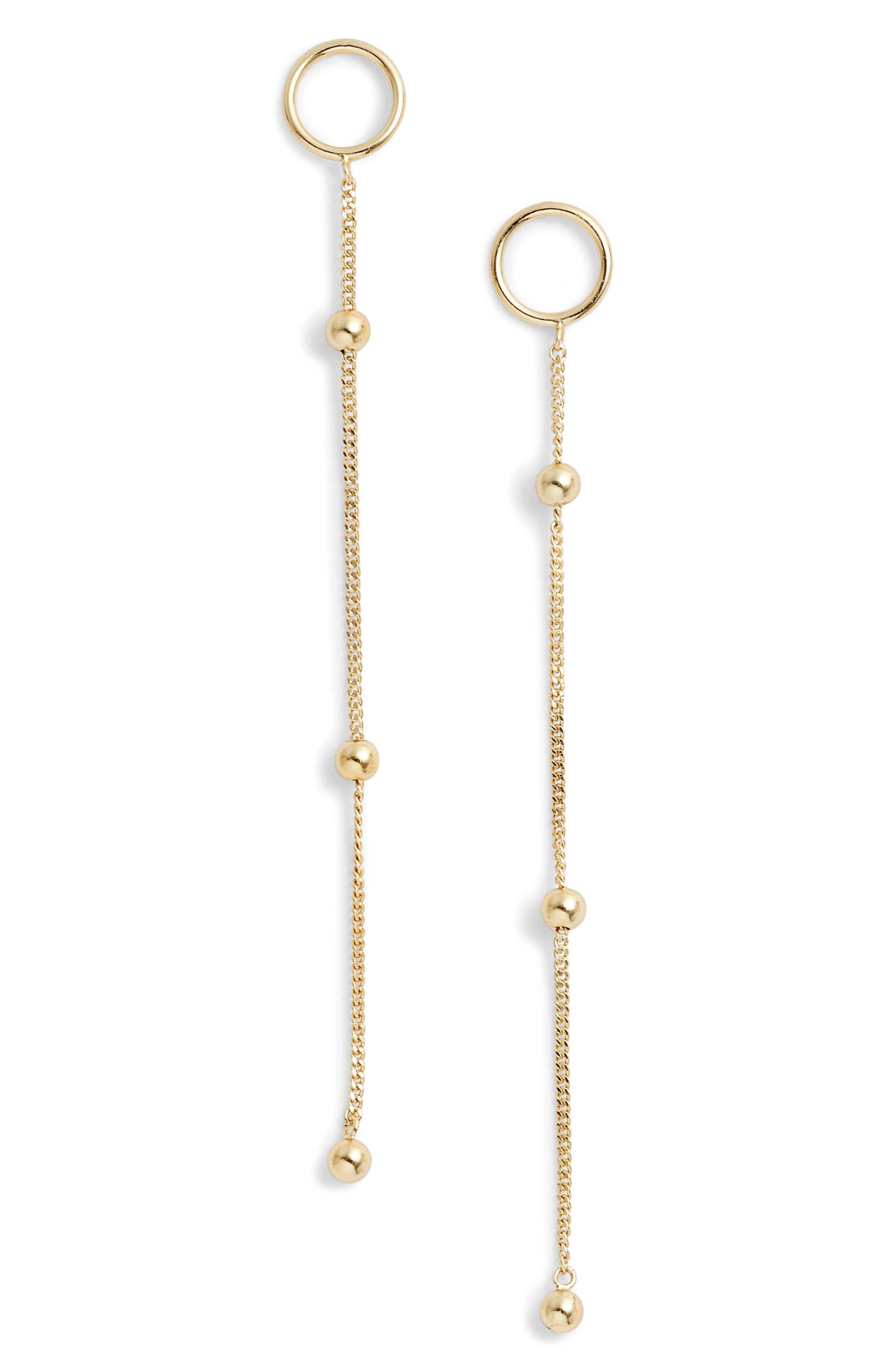 Argento Vivo Ava Ball Chain Drop Earrings