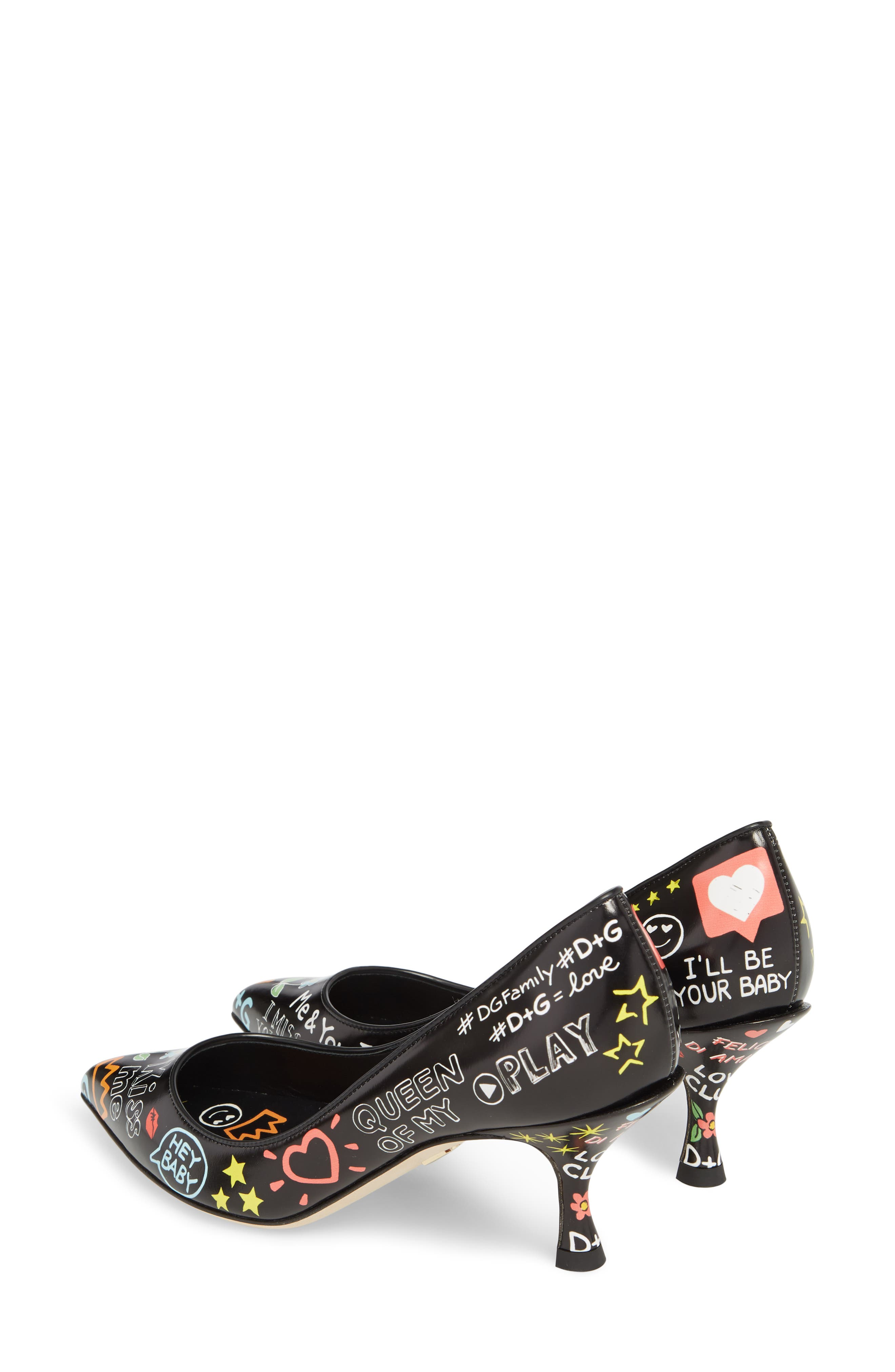 Alternate Image 3  - Dolce&Gabbana Graffiti Pump (Women)
