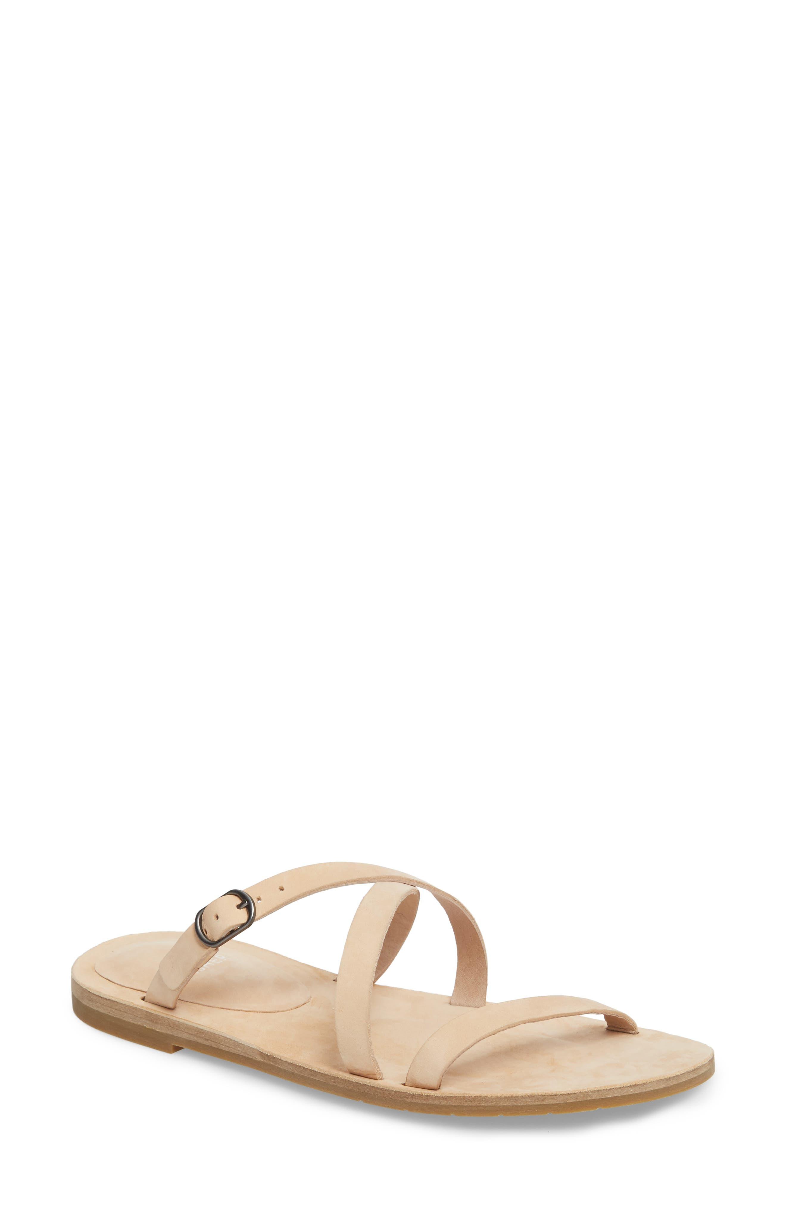 Dali Strappy Slide Sandal,                             Main thumbnail 1, color,                             Cream Nubuck