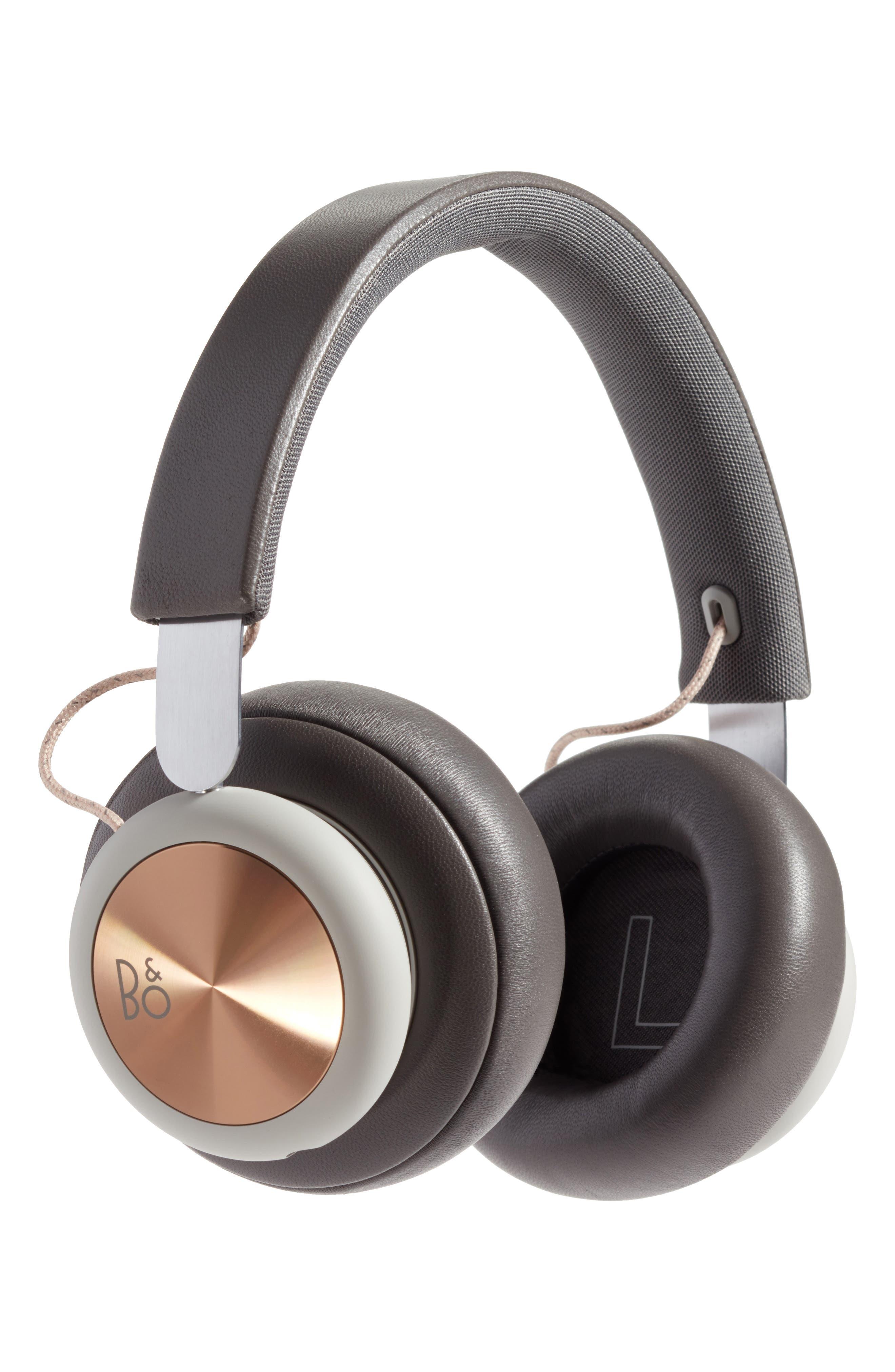 B&O PLAY H4 Wireless Over Ear Headphones,                             Main thumbnail 1, color,                             Charcoal/ Grey