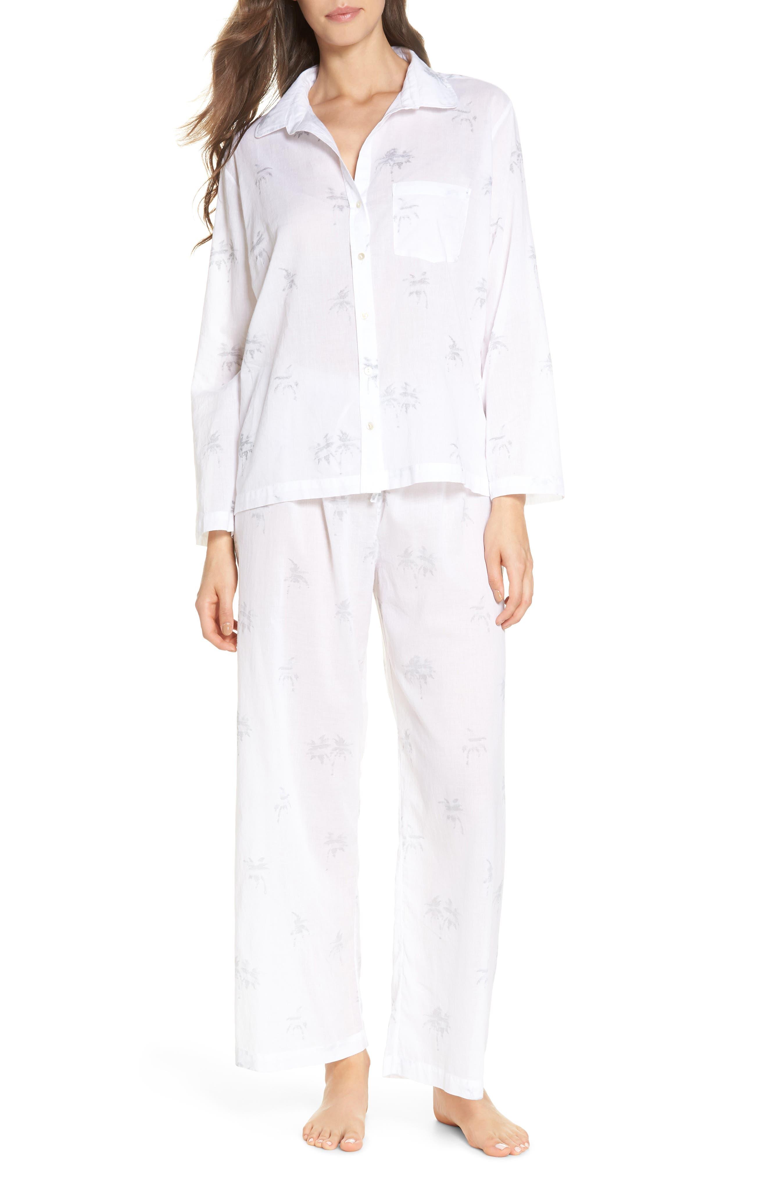 Palms Pajamas,                             Main thumbnail 1, color,                             Grey