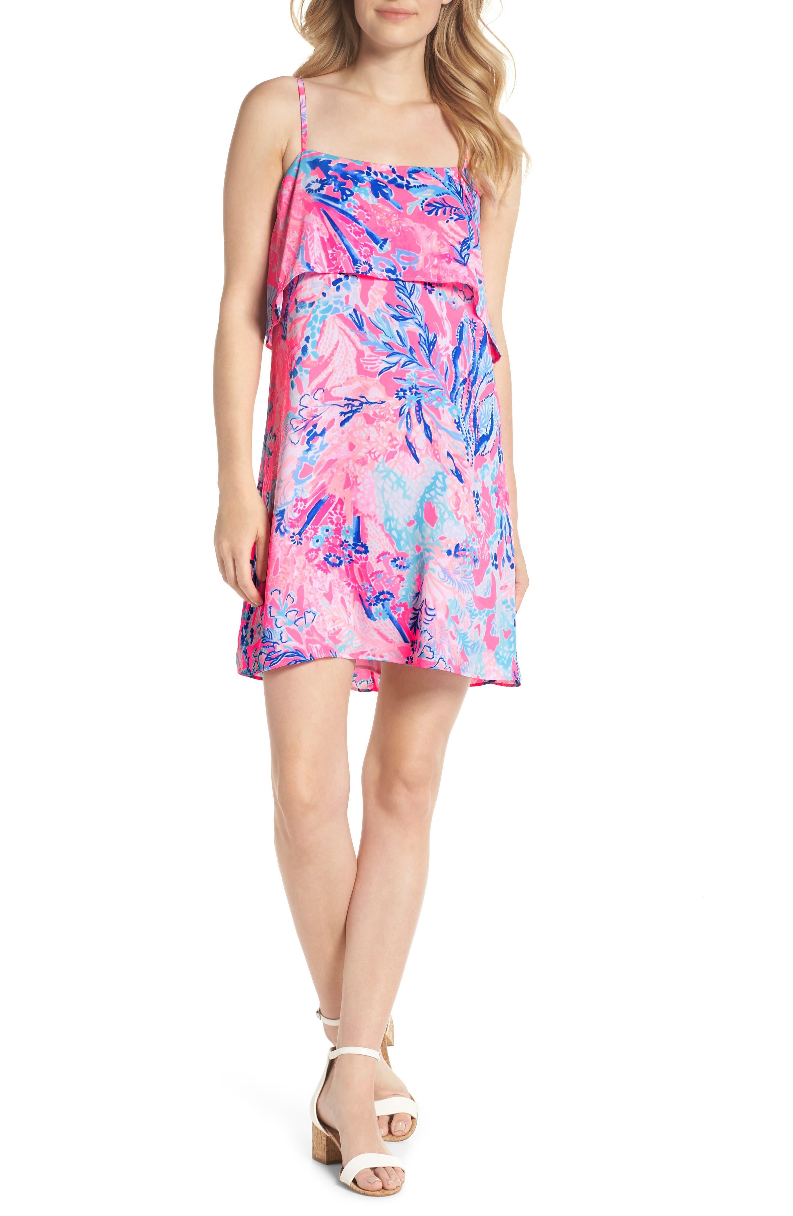 Lexi Shift Dress,                         Main,                         color, Light Pascha Pink Aquadesiac