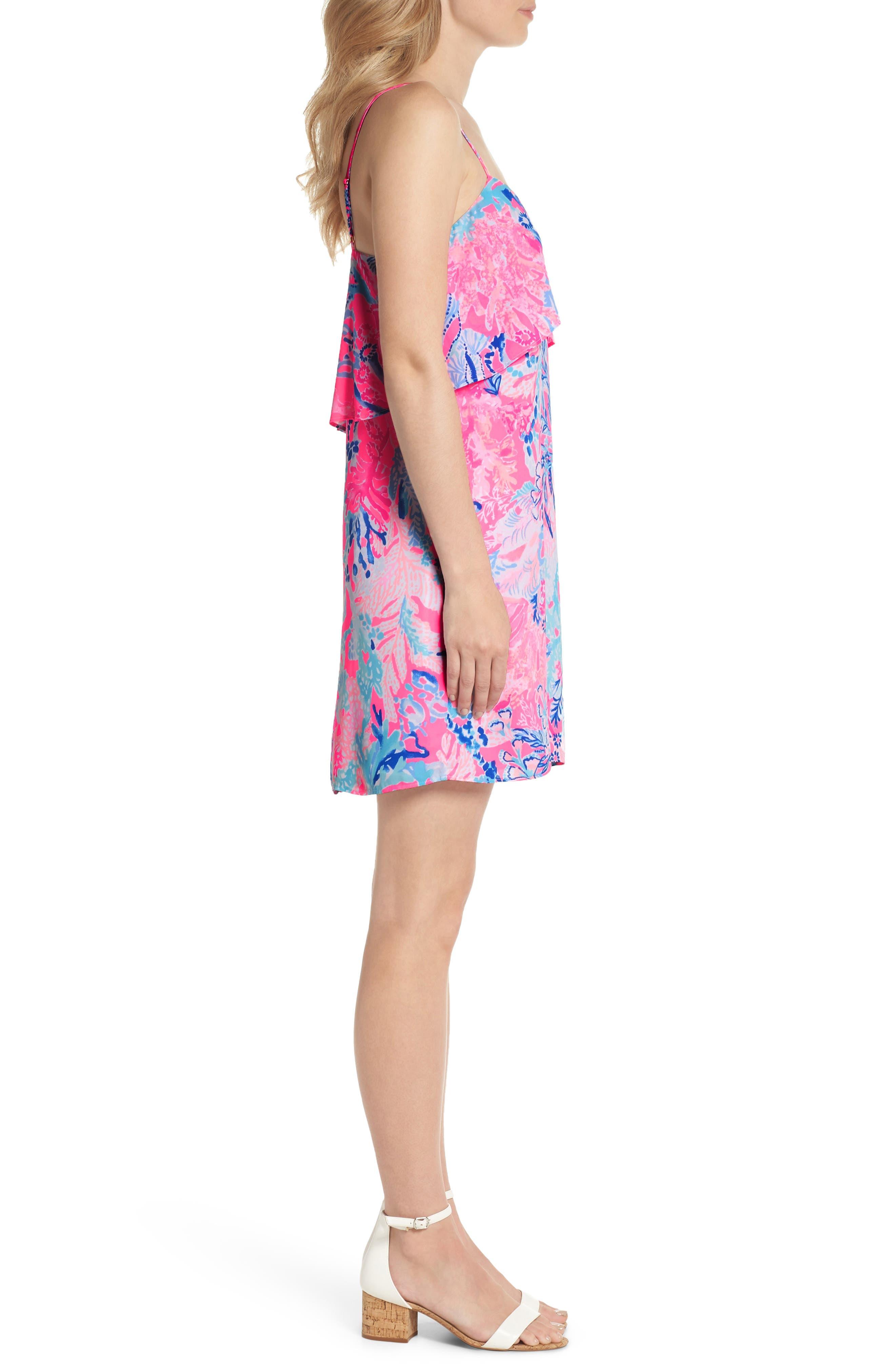 Lexi Shift Dress,                             Alternate thumbnail 3, color,                             Light Pascha Pink Aquadesiac