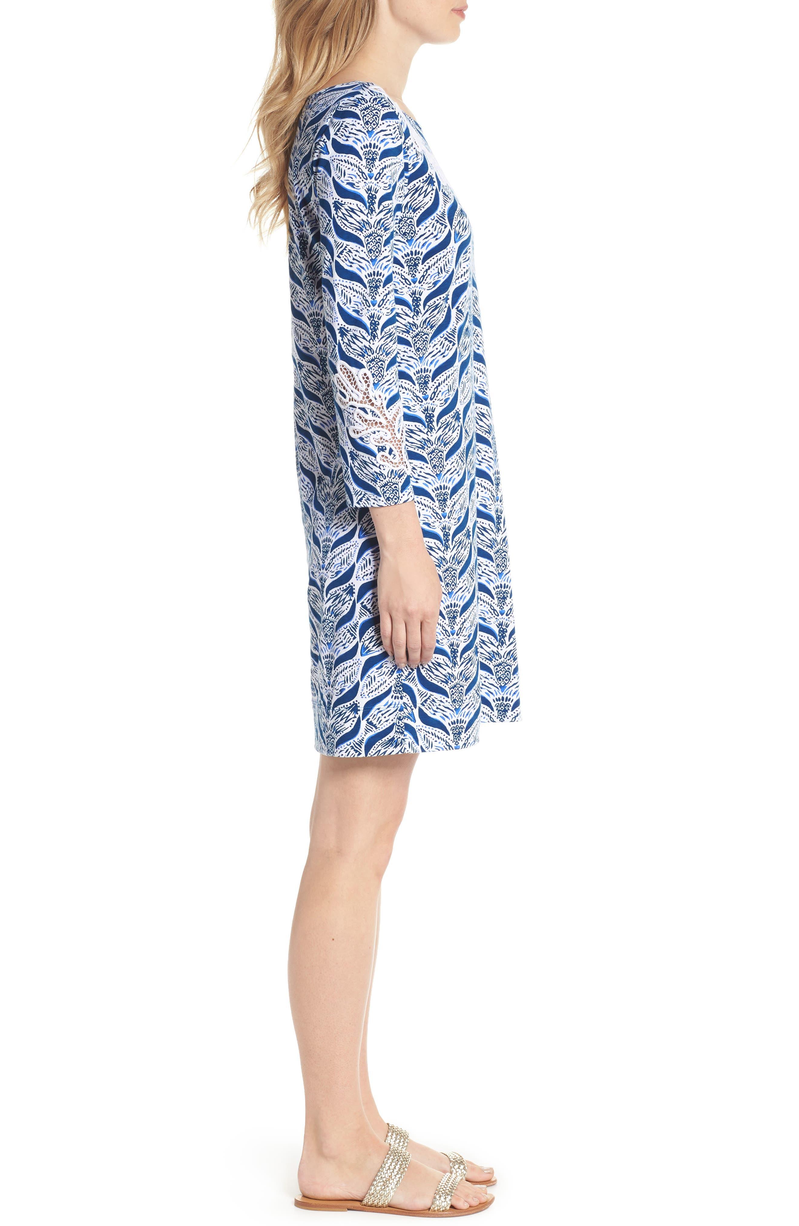 Marlowe T-Shirt Dress,                             Alternate thumbnail 3, color,                             Resort White A Mermaids Tail